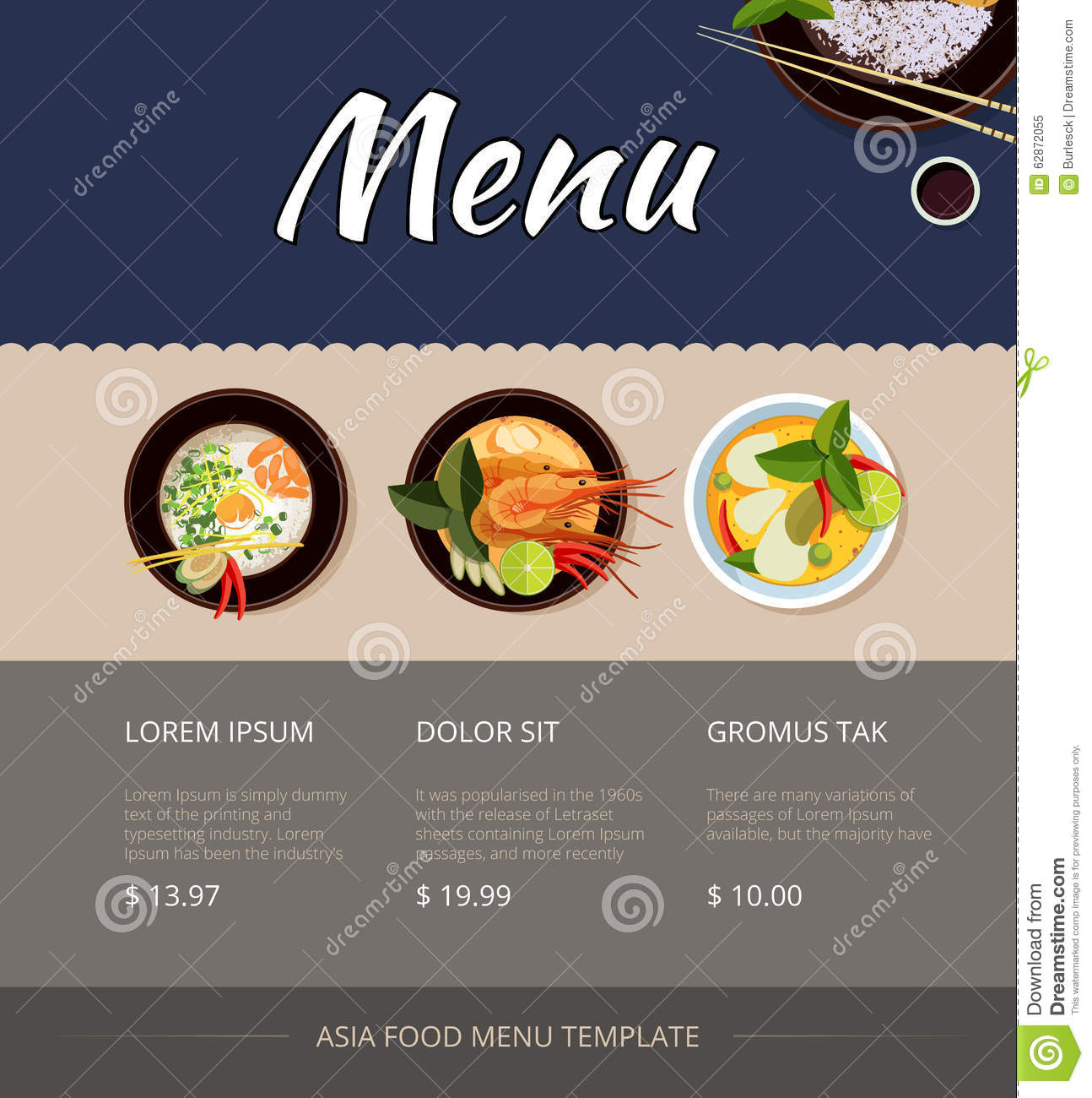 Thai restaurant menu design for Cuisine design