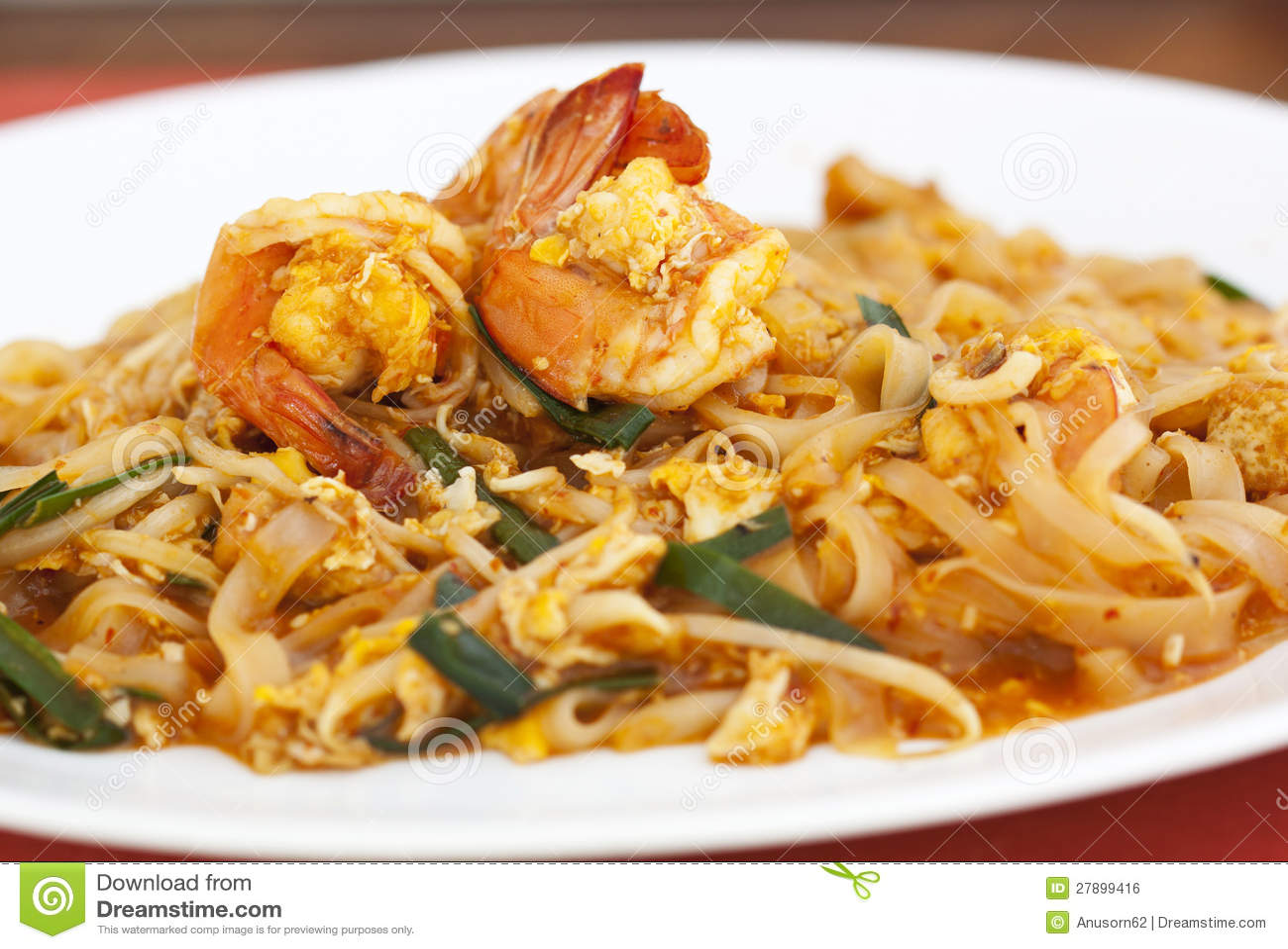 Thai Food Pad Thai , Stir Fry Noodles Royalty Free Stock Image - Image ...