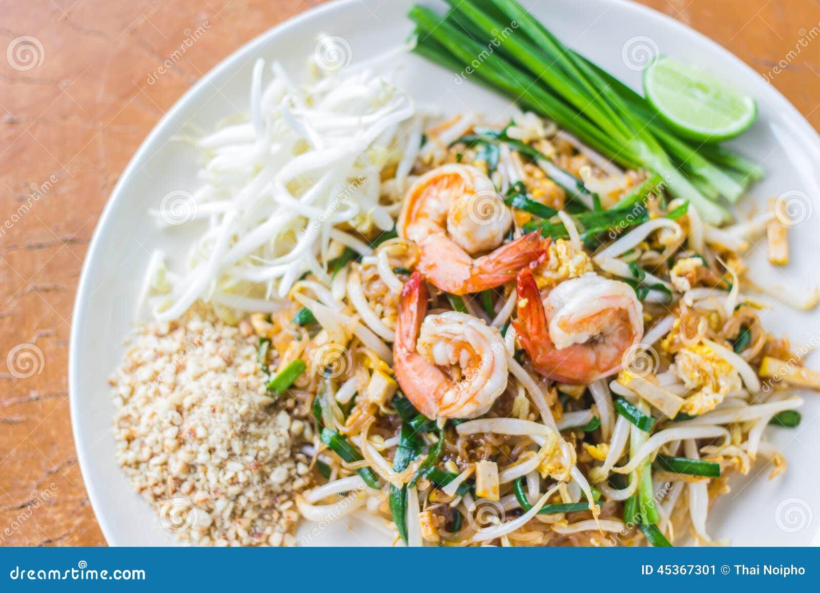 Download Thai Food Pad Thai , Stir Fry Noodles With Shrimp Stock Image - Image of fresh, quick: 45367301