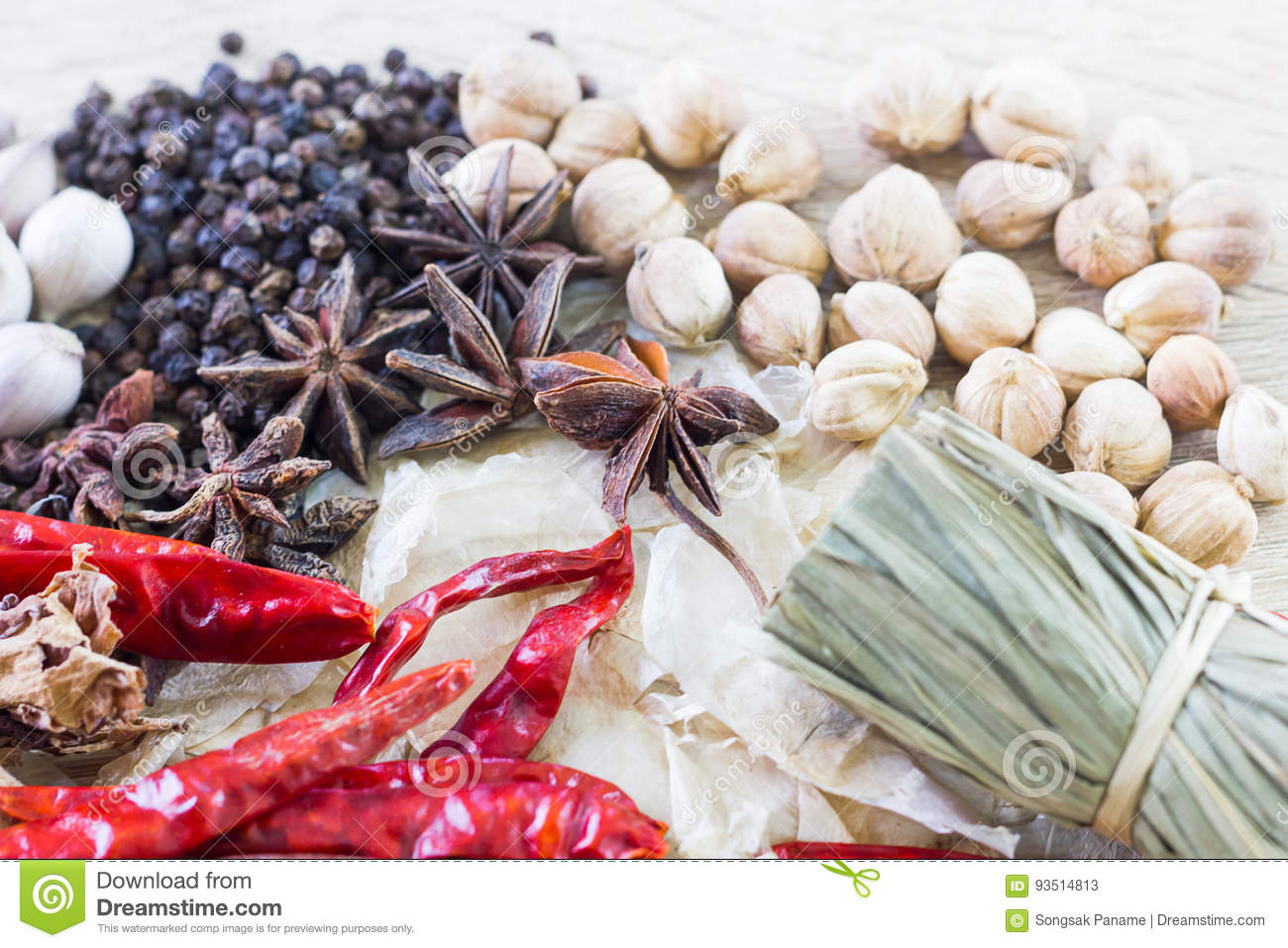 Thai food recipes concept for health stock image image of cinnamon thai food recipes with ingredients on wood table healthy cooking concept forumfinder Image collections