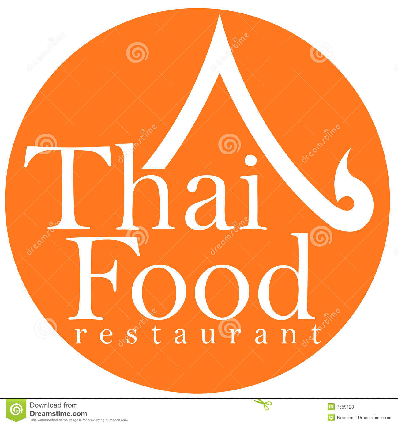 Thai Food Restaurant Logo Design