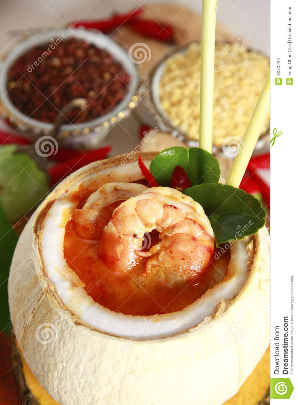 Thai food shrimp soup stock photo image of food spice for 8 spices thai cuisine