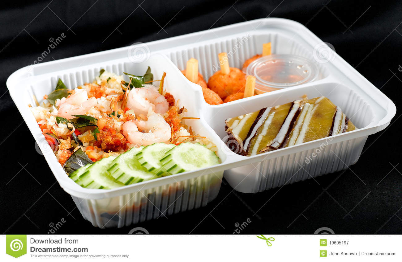Thai Food Style Lunchbox Royalty Free Stock Photography