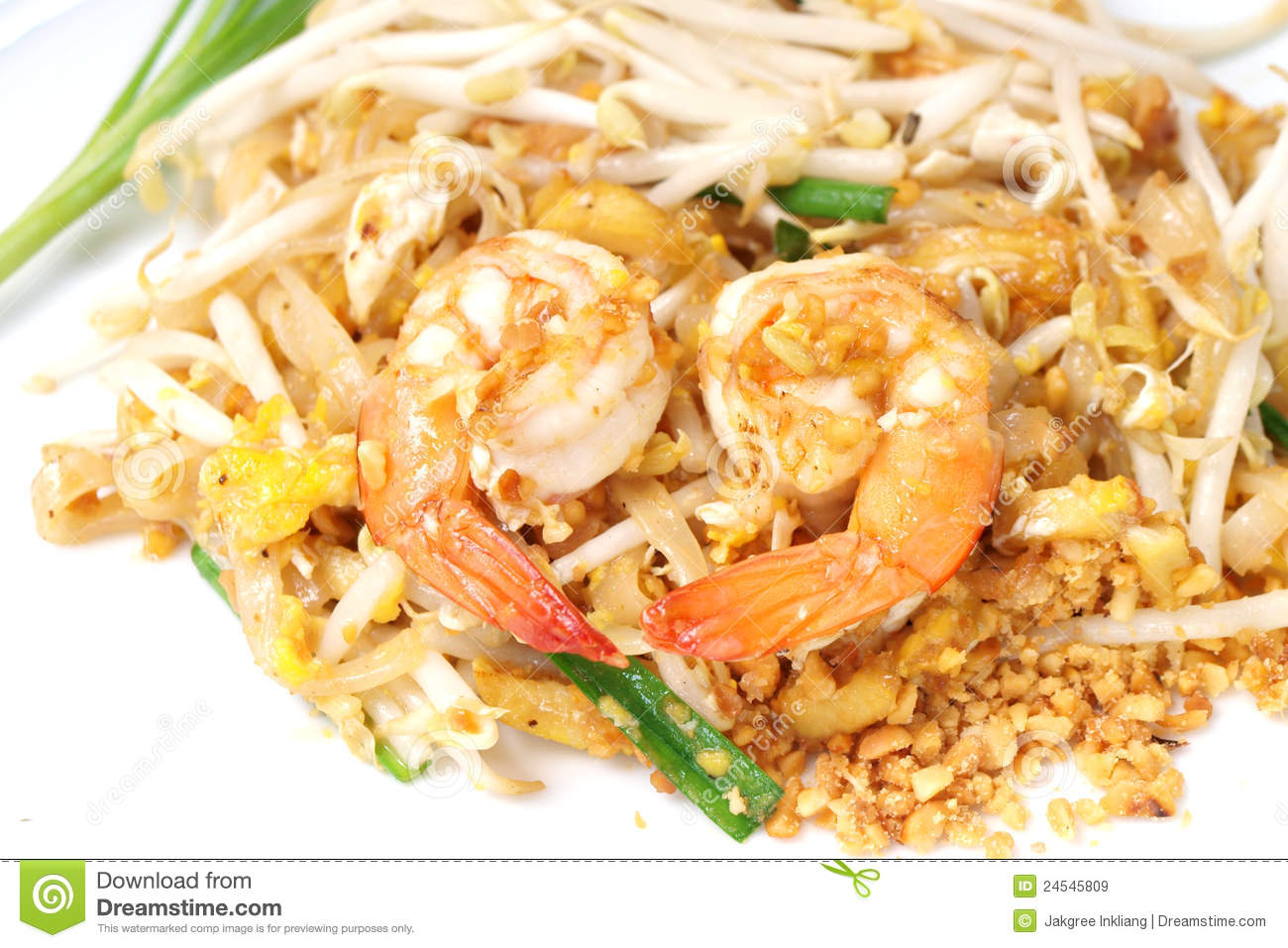 Thai Food Style Pad Thai Royalty Free Stock Images