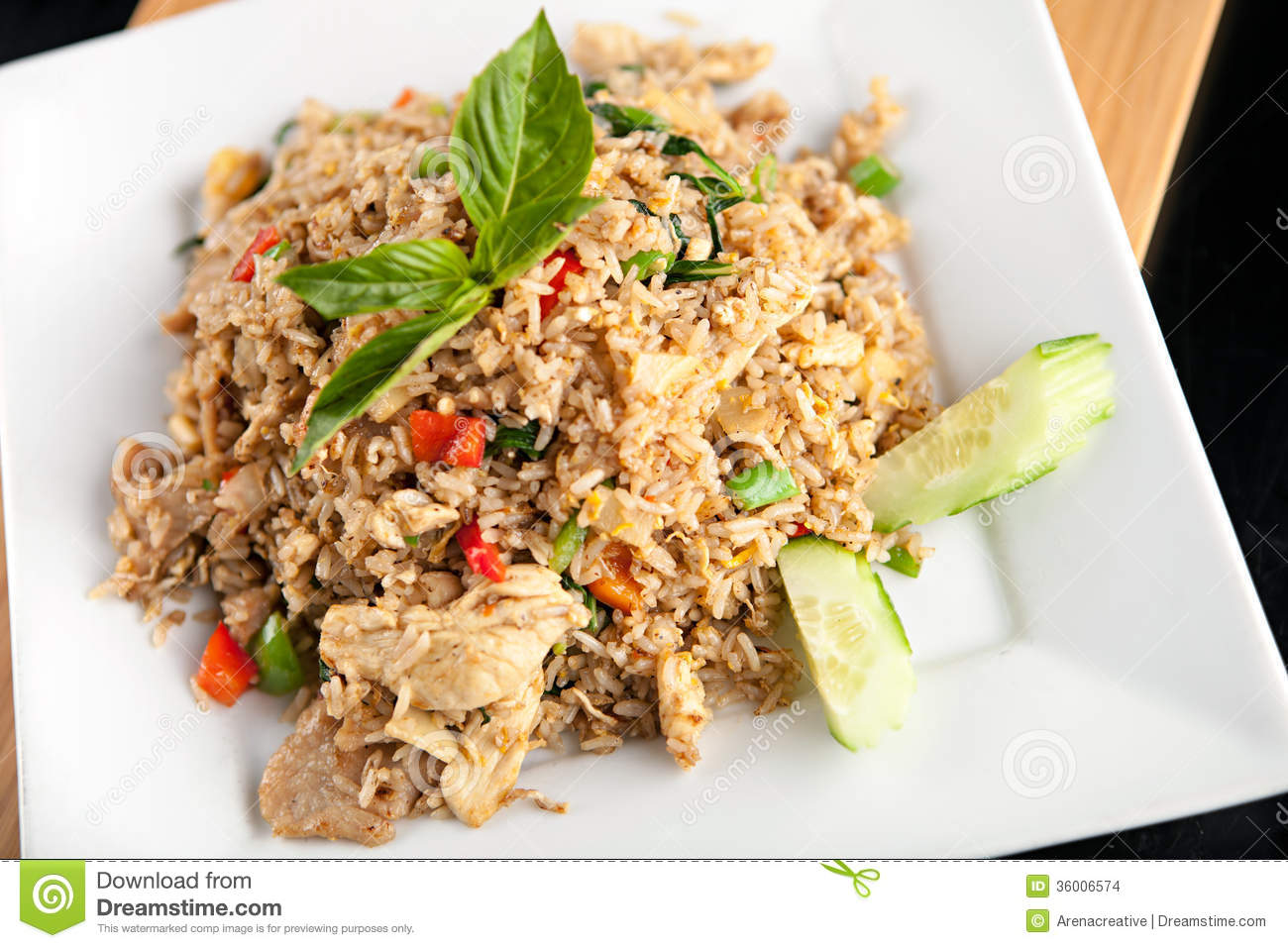 Thai Fried Rice With Chicken Stock Images - Image: 36006574