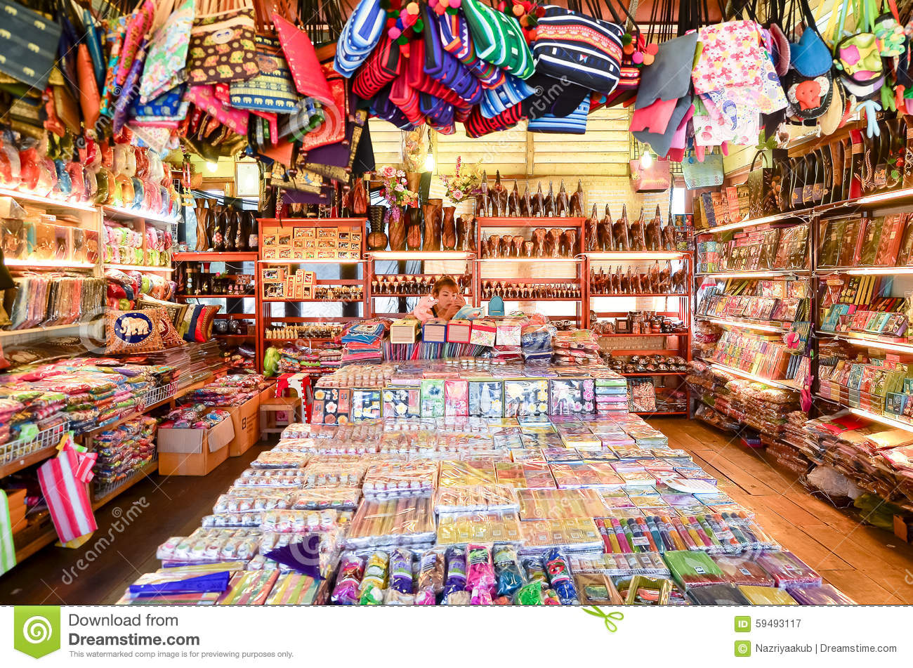 Thai Gift Shop Editorial Photography - Image: 59493117