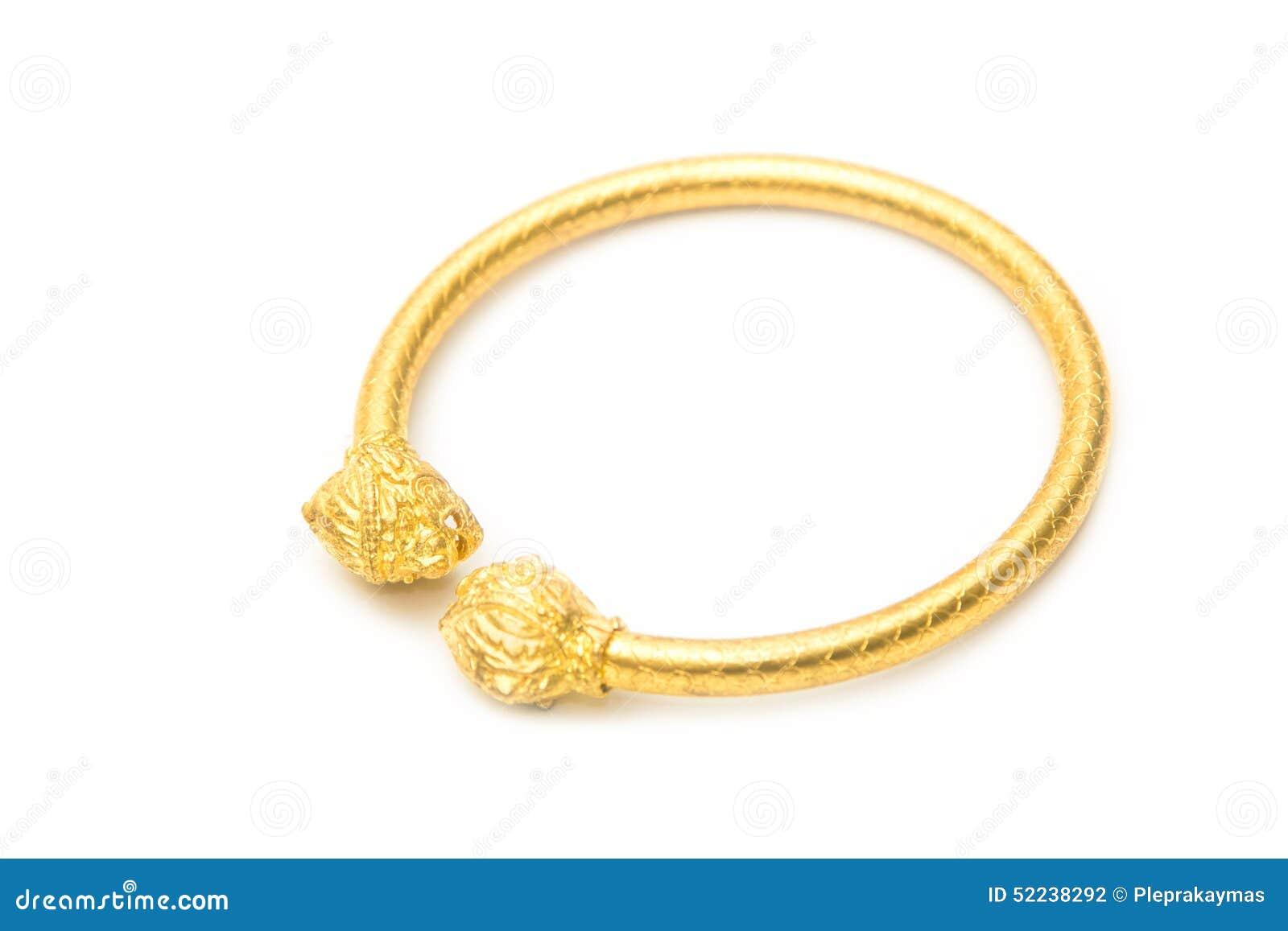 Thai gold bracelet design stock photo. Image of curve - 52238292