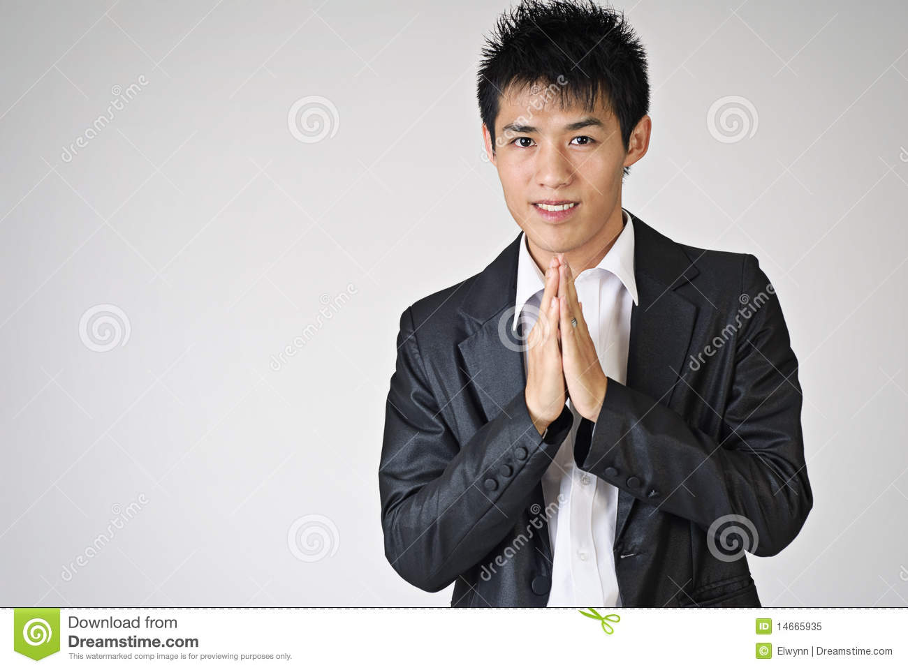 Young Man With Thai Greeting Stock Image Image Of Smile