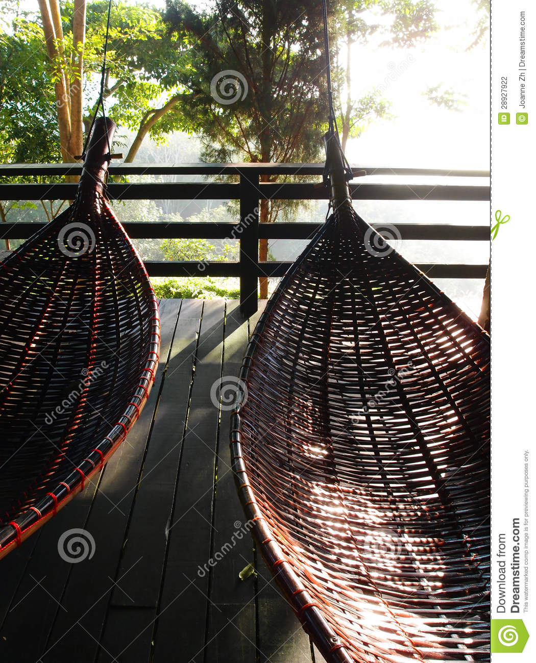 Thai Hammocks Swing Traditional Bamboo Amp Rattan Stock