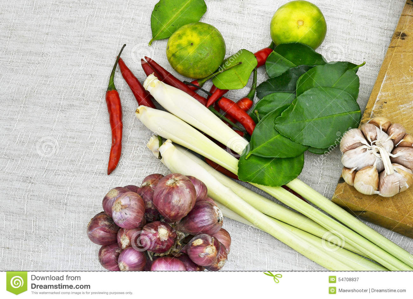 Thai herb stock photo image 54708837 for 8 spices thai cuisine menu