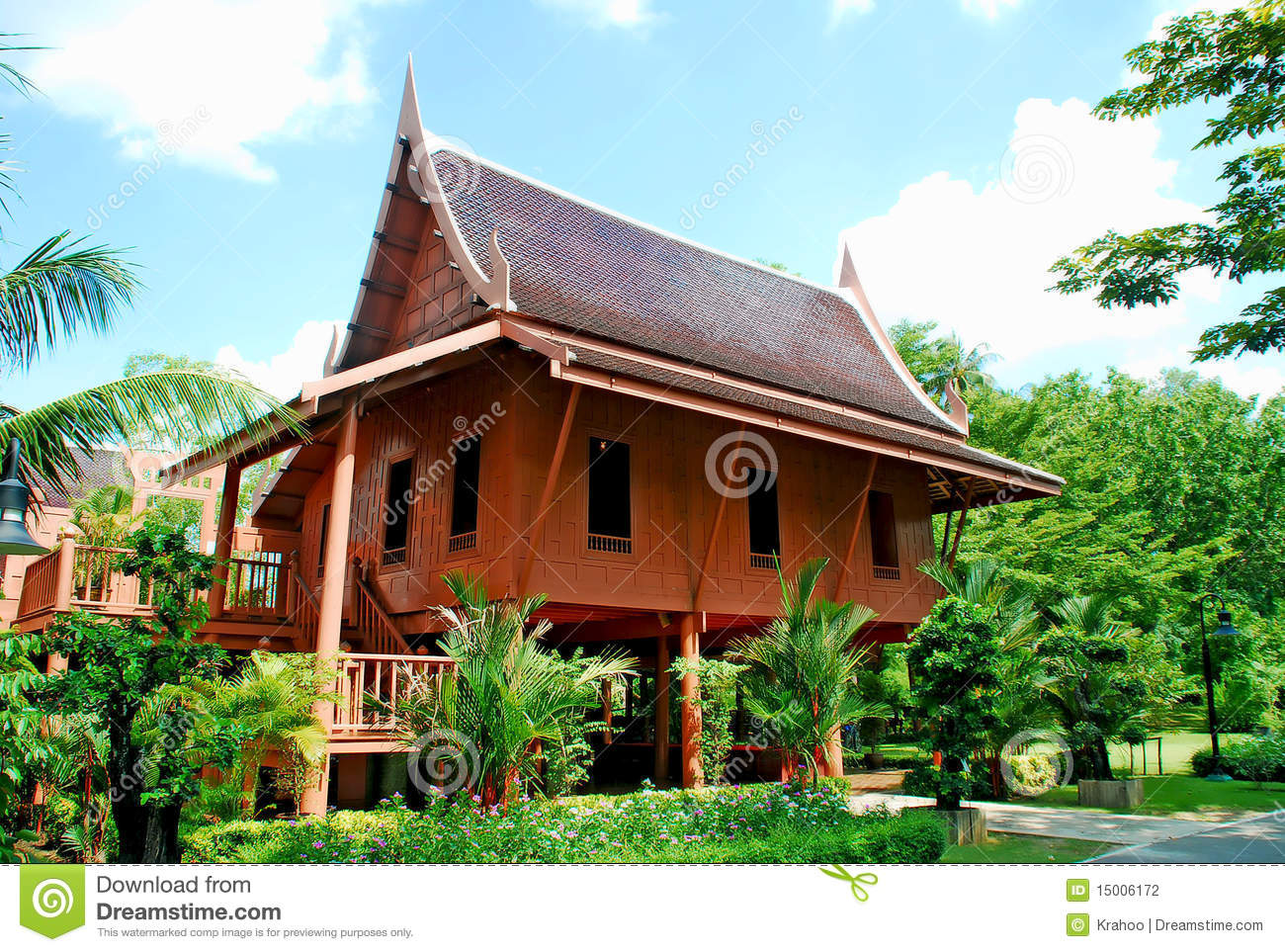 Thai house stock photography image 15006172 for Thai classic house
