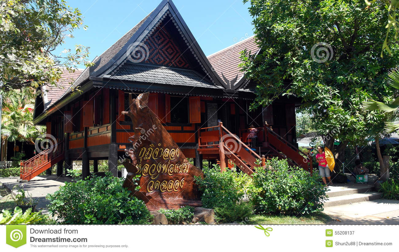 thai wooden house building editorial photography image of conceptsa photograph showing the beautiful ethnic architecture of a traditional thailand malay indonesia house made of dark brown wood