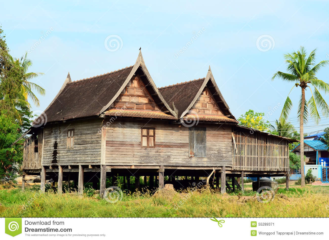 Thai house old style stock photo image 55289371 for Thai classic house