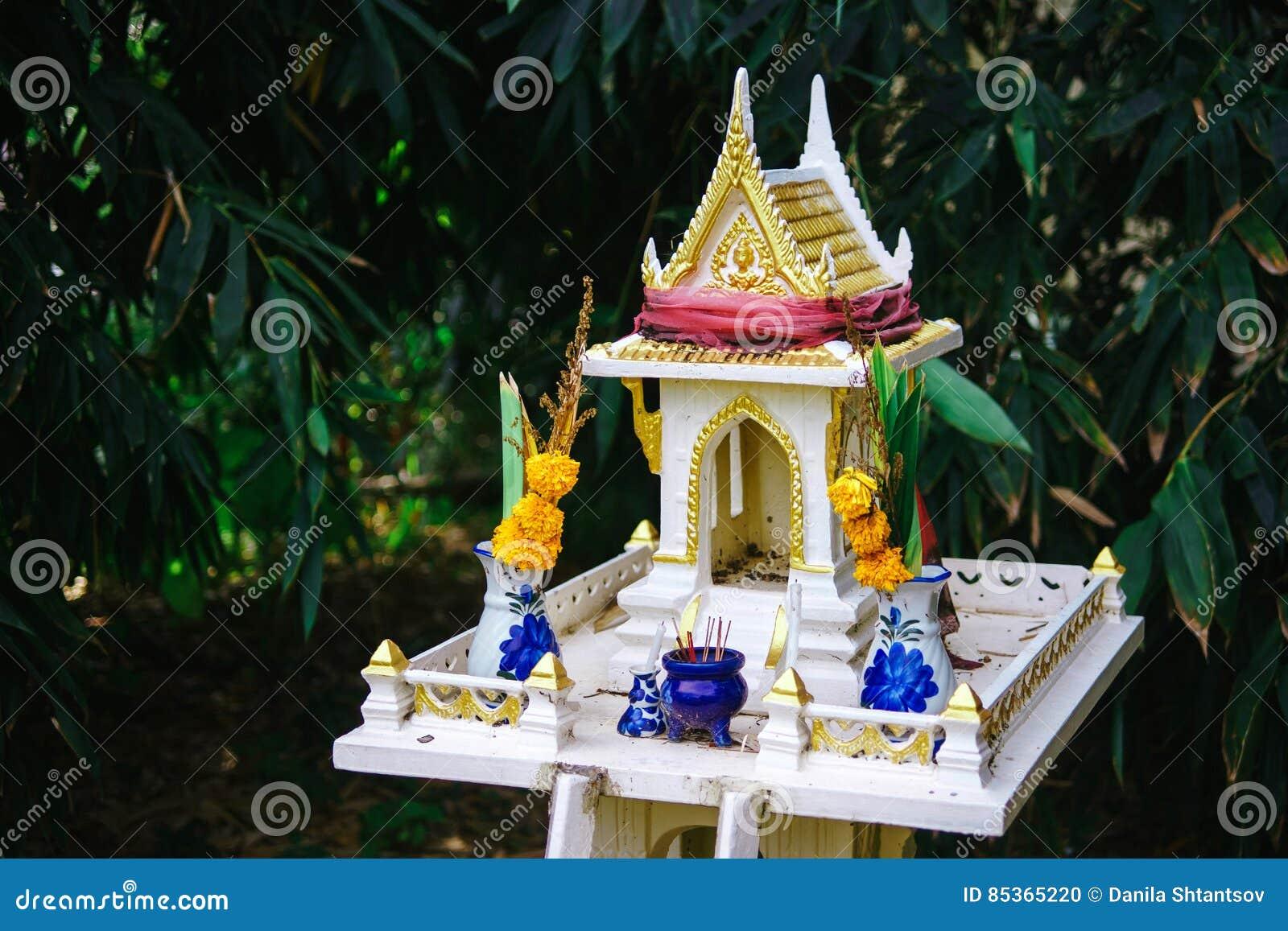 Thai house for spirits stock photo  Image of food, lifestyle - 85365220