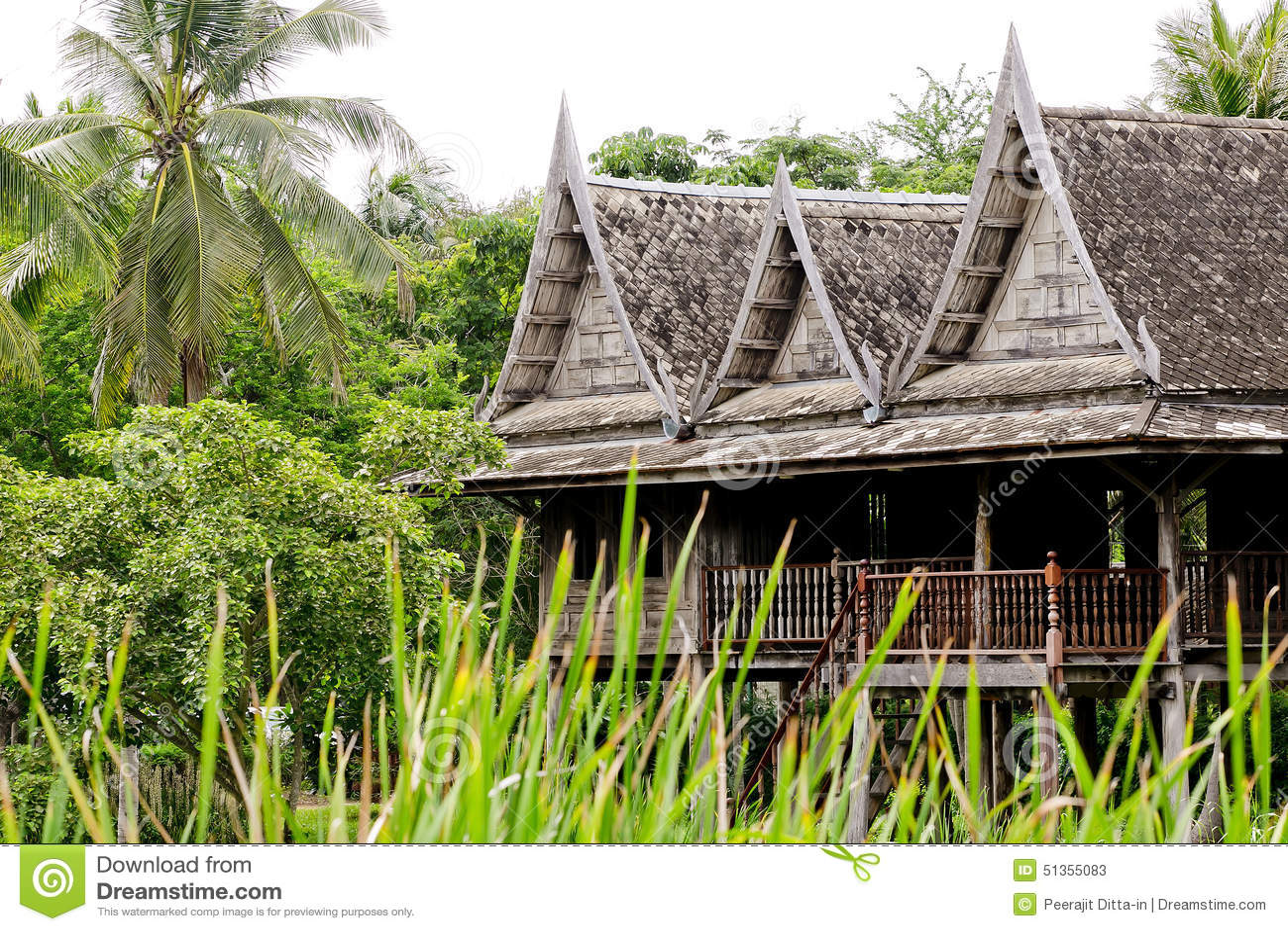 Thai House Style Stock Photo Image 51355083