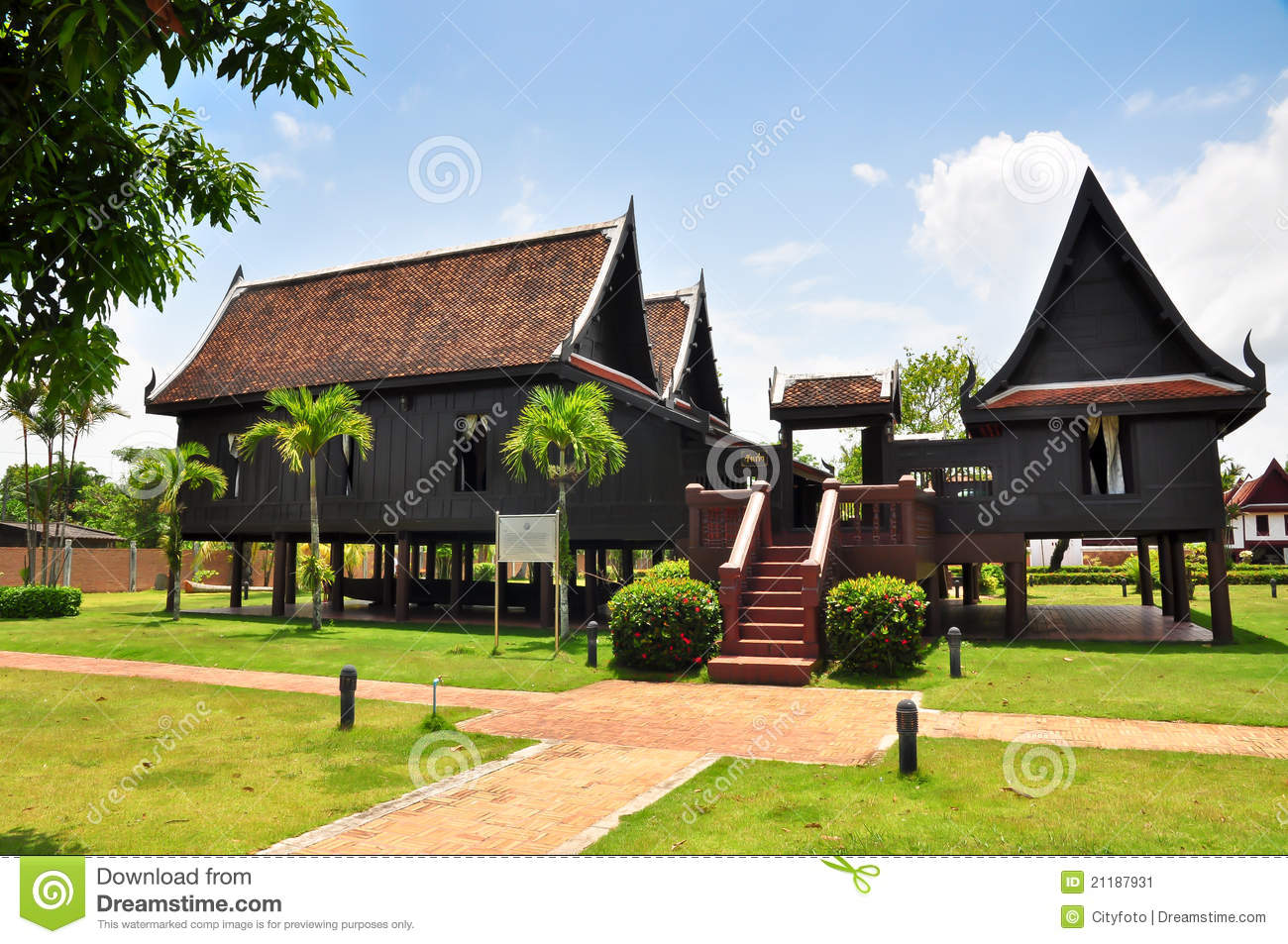 Thai House Traditional Style Stock Image Image 21187931
