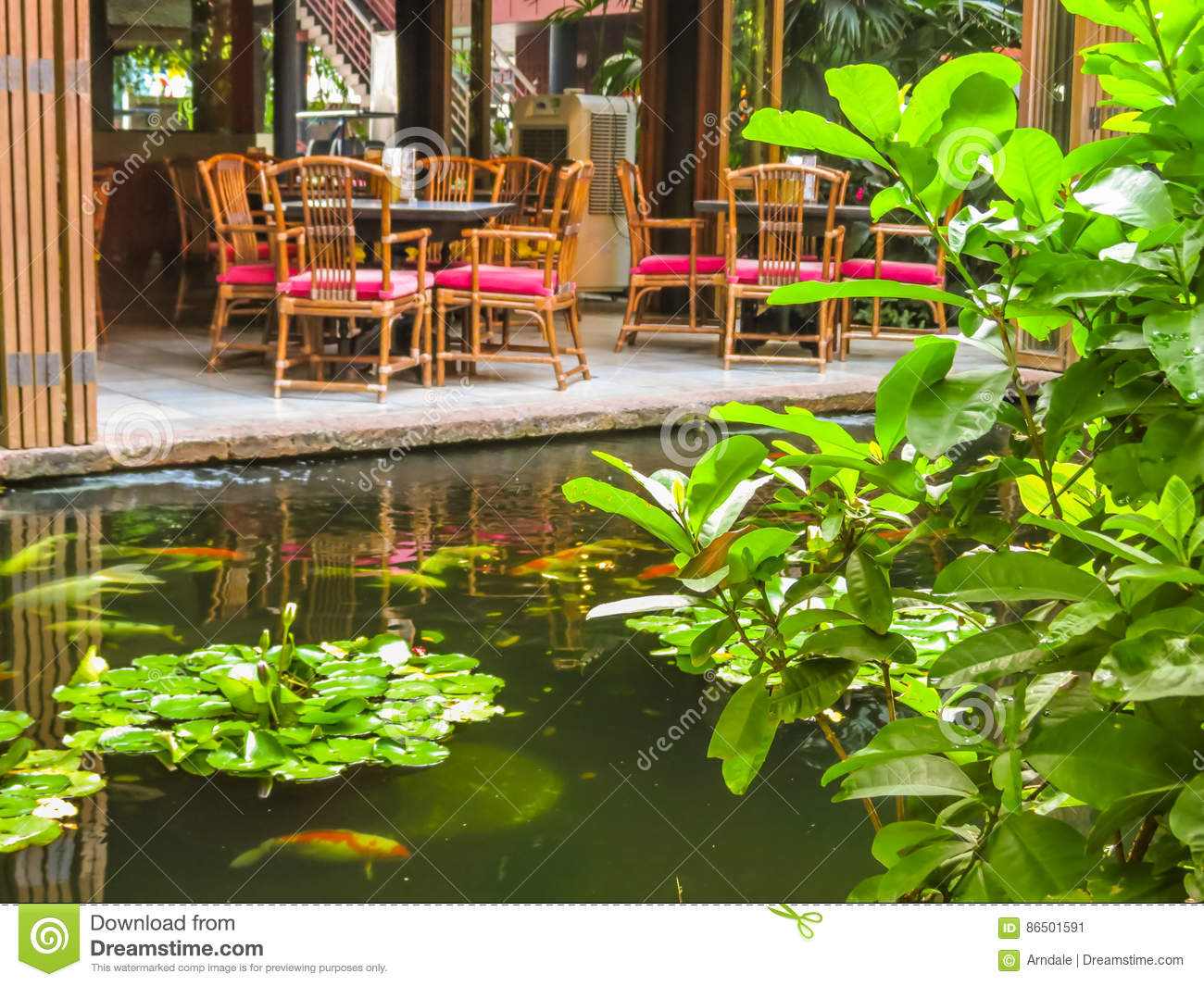 Thai house building architecture patio stock photography for Outdoor furniture thailand bangkok