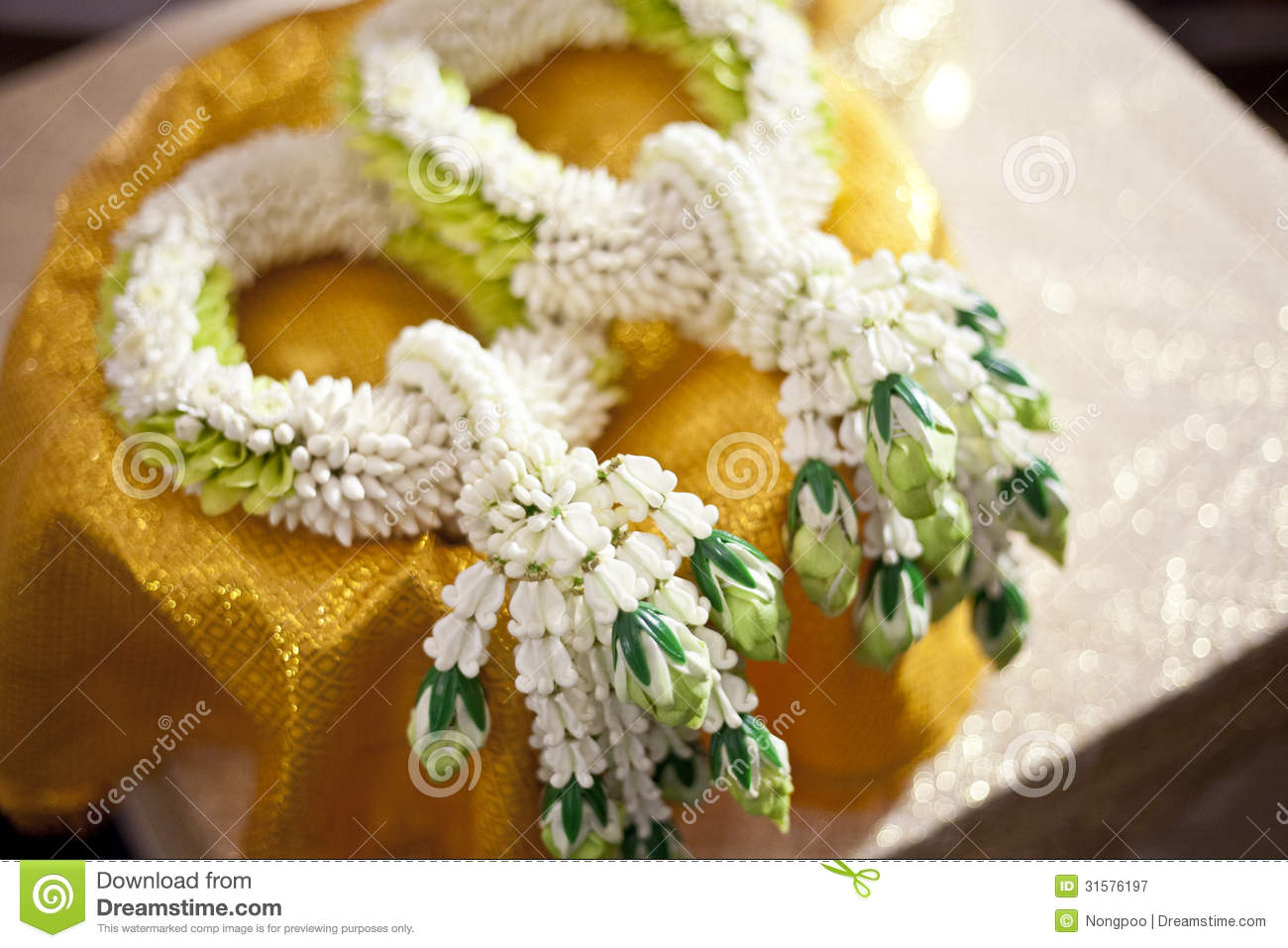 Thai Jasmin Wedding Garland For Groom And Bride, Thailand Weddin