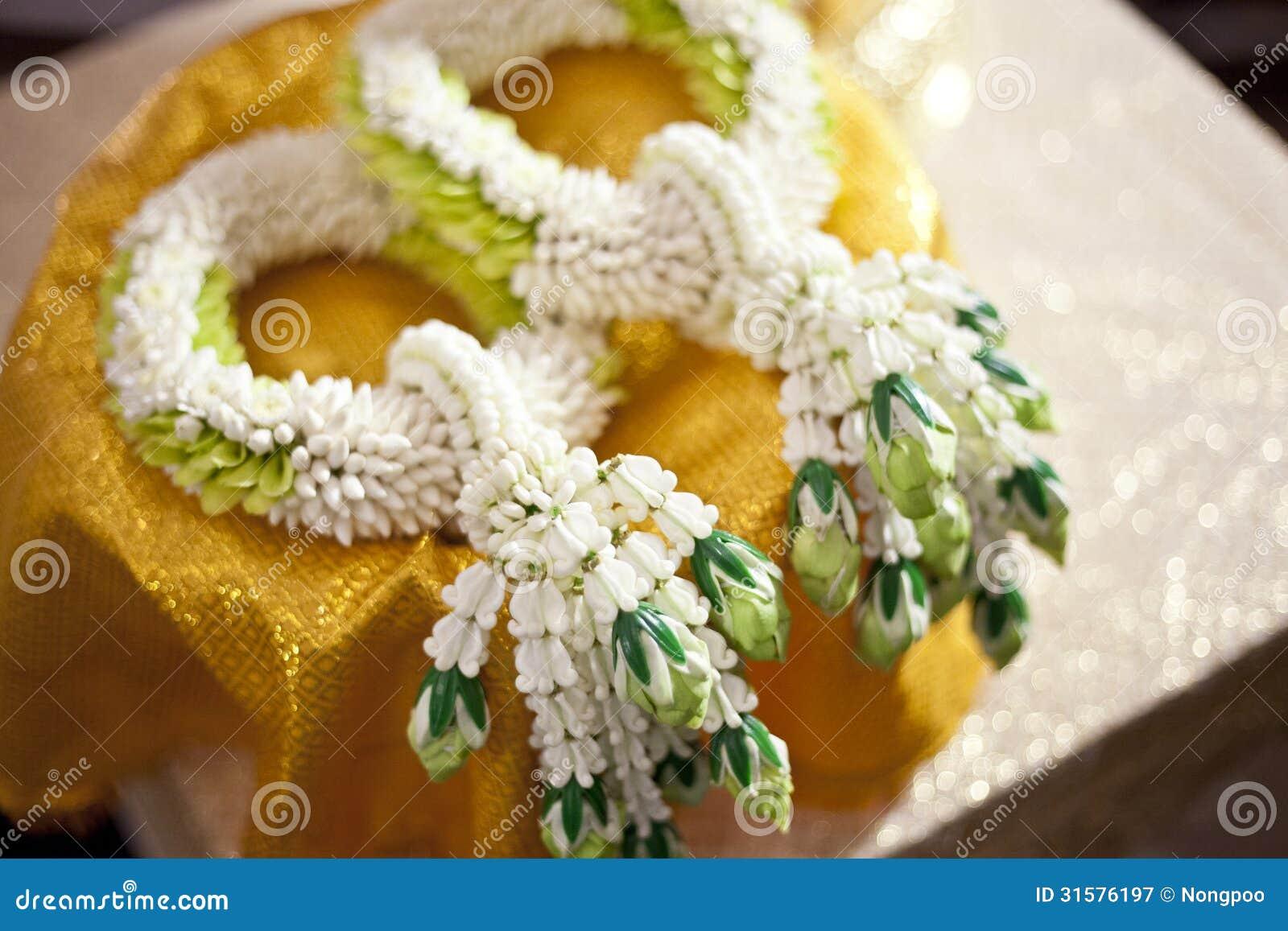 Thai Jasmin Wedding Garland For Groom And Bride, Thailand Weddin