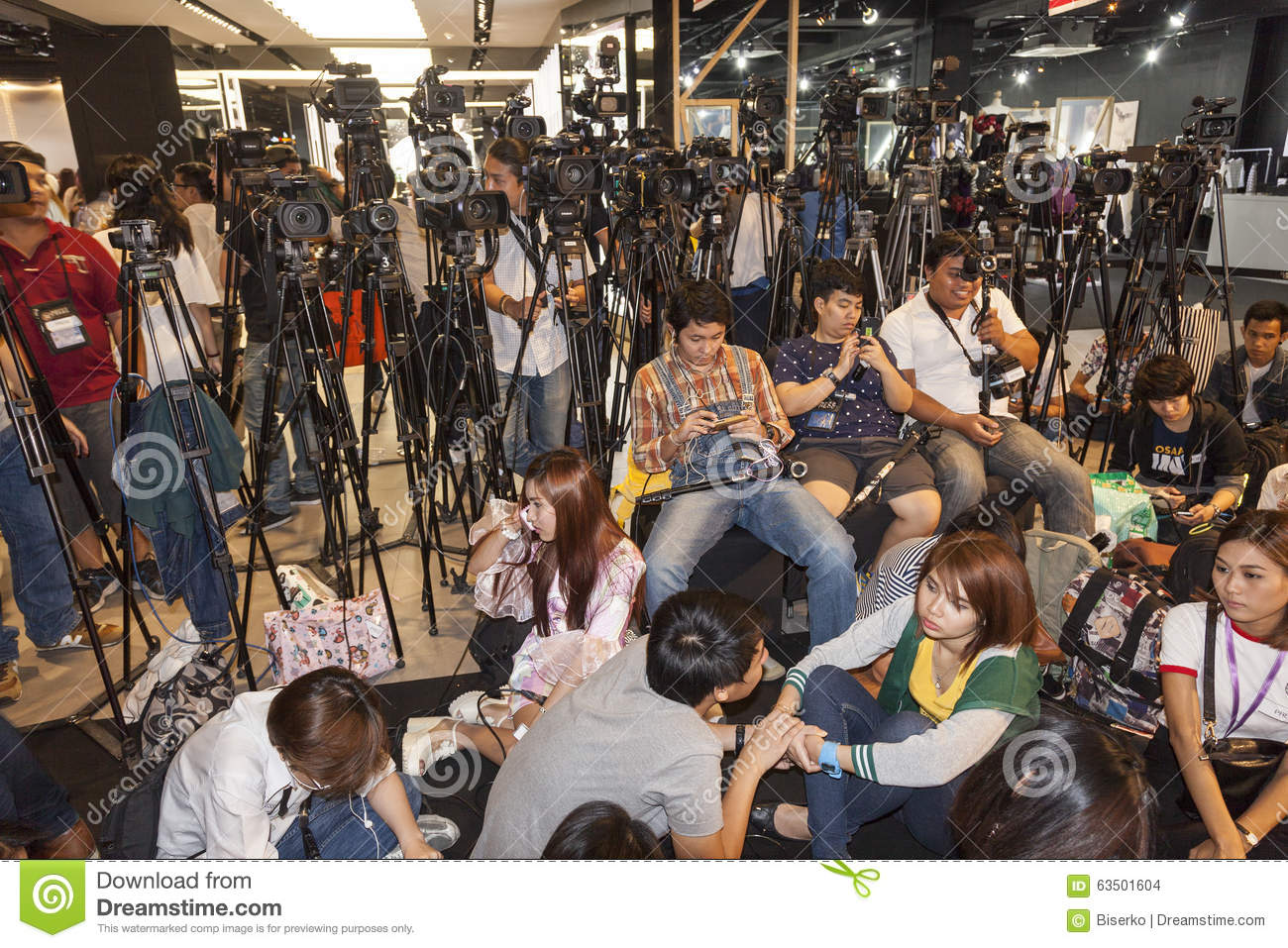 Thai journalists editorial stock image  Image of asiatic