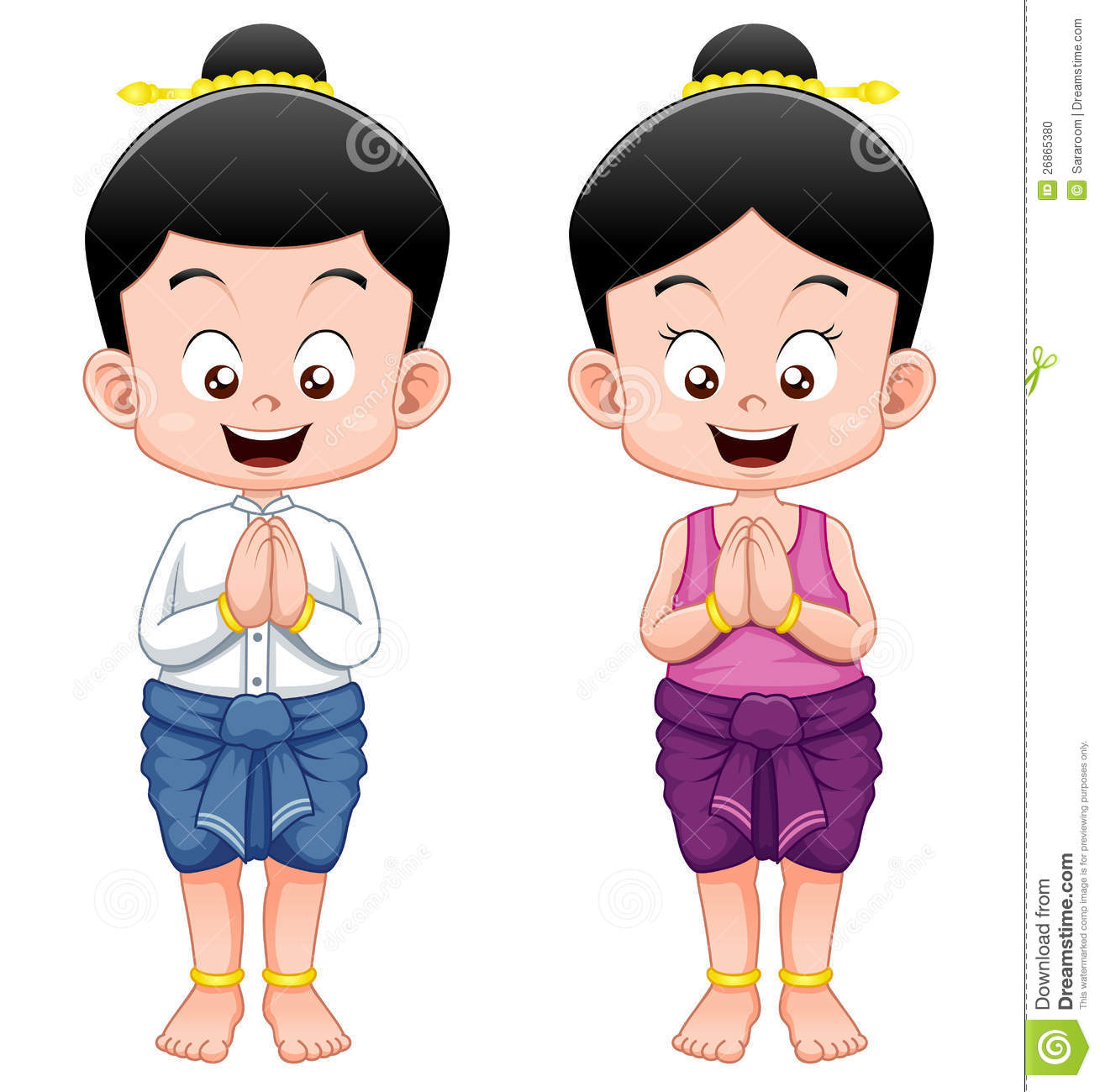 Thai Kids,Sawasdee Stock Photo - Image: 26865380