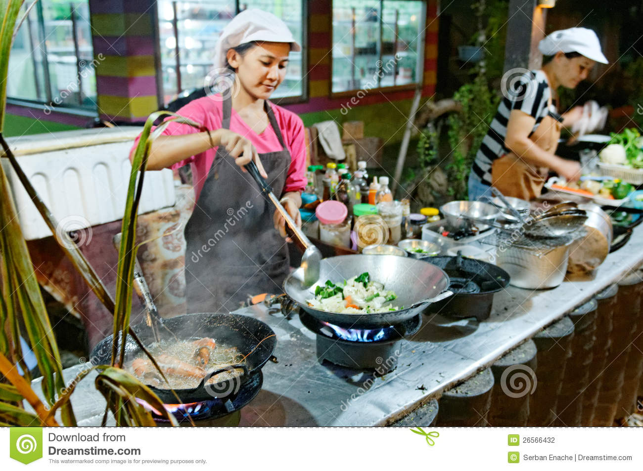 Thai Kitchen thai kitchen royalty free stock images - image: 29704919