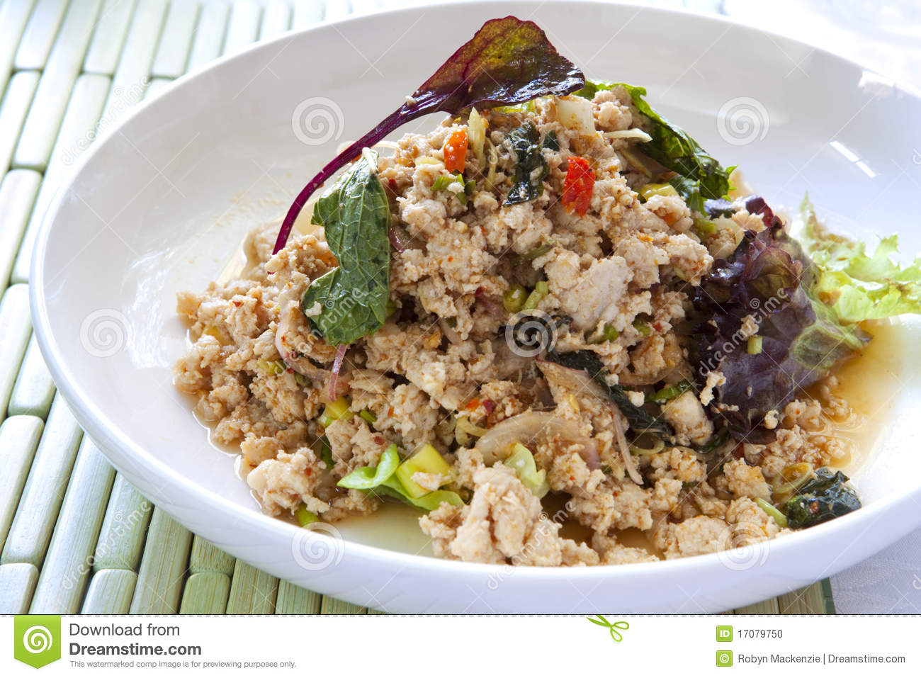Pork Larb (Thai Salad With Pork, Herbs, Chili, And Toasted Rice Powder ...