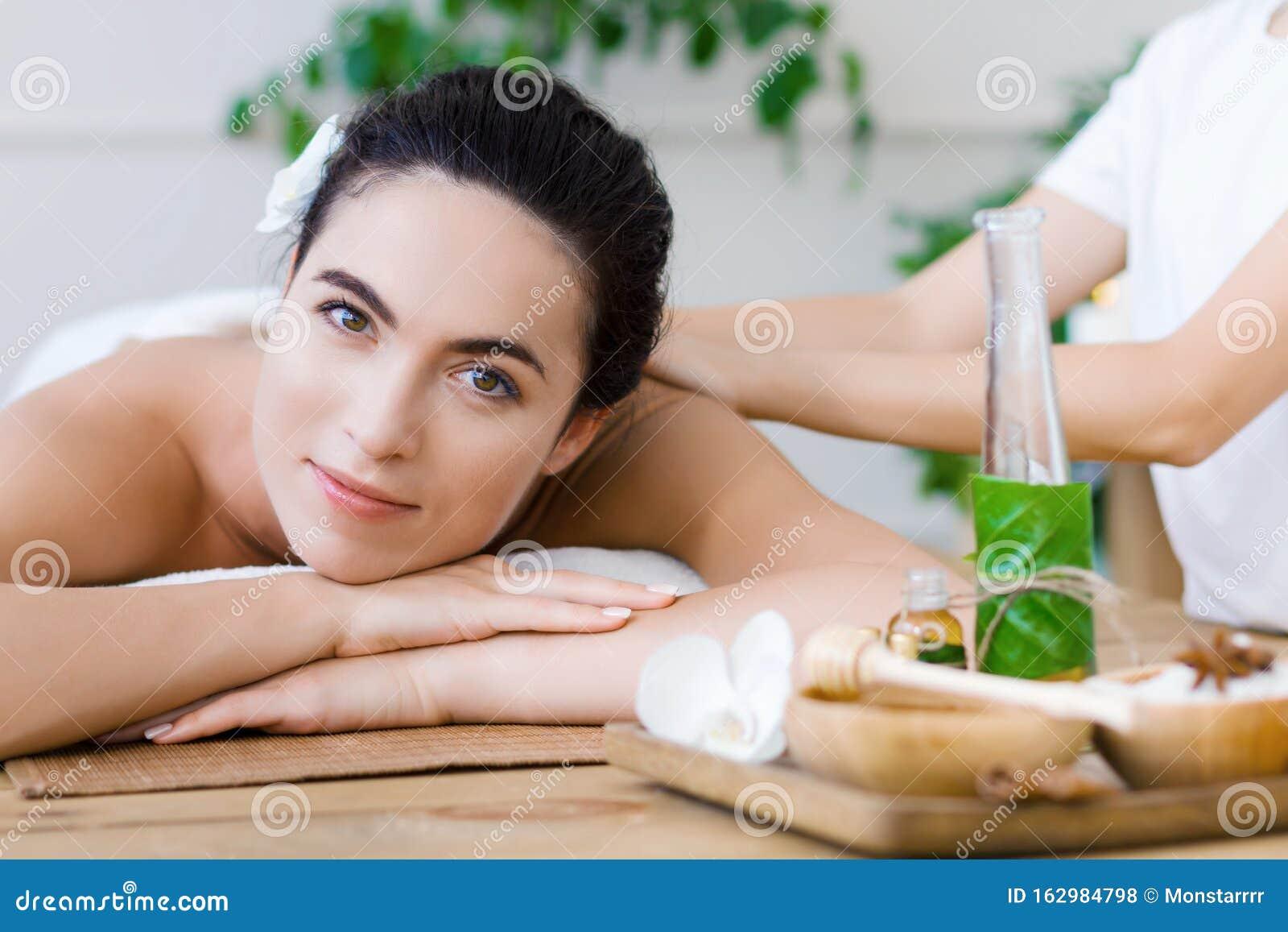 Thai Massage Therapy At Spa Salon. Health Care Concept