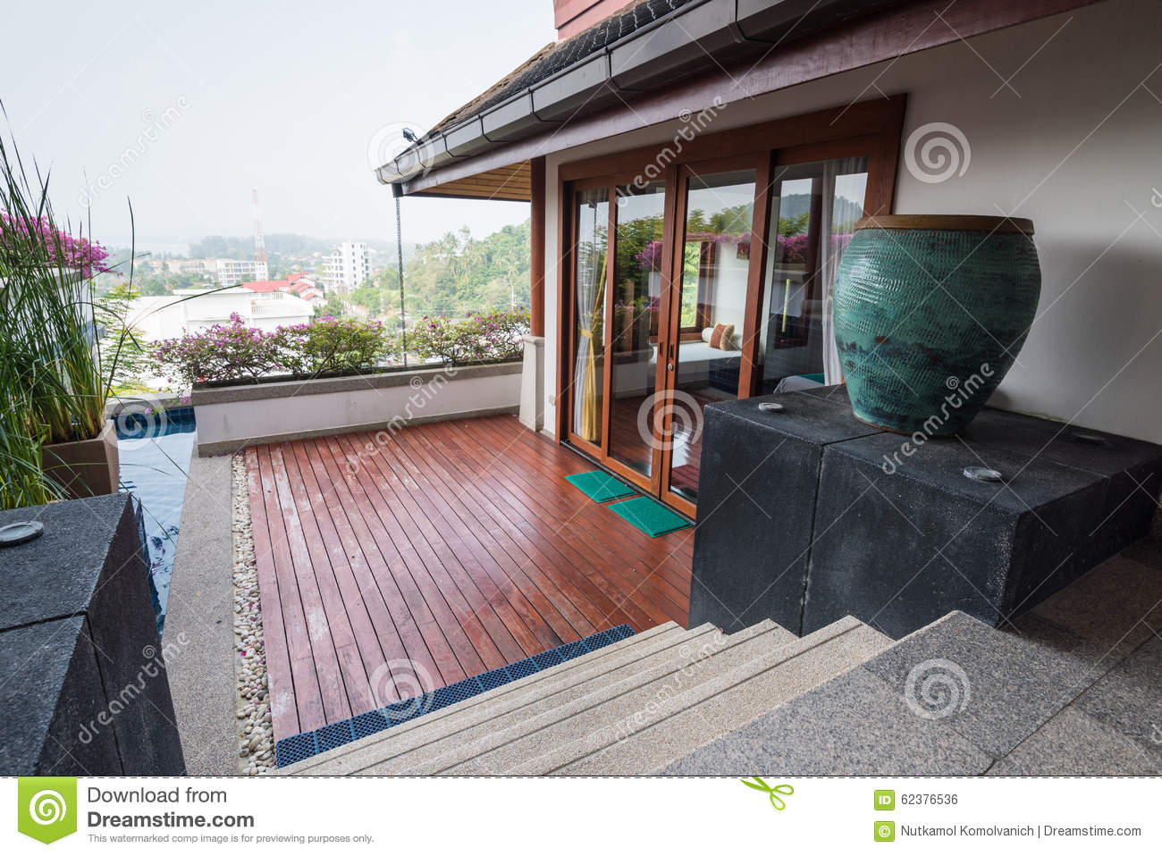 Thai modern house interior style stock photo image 62376536 for Thai modern house style