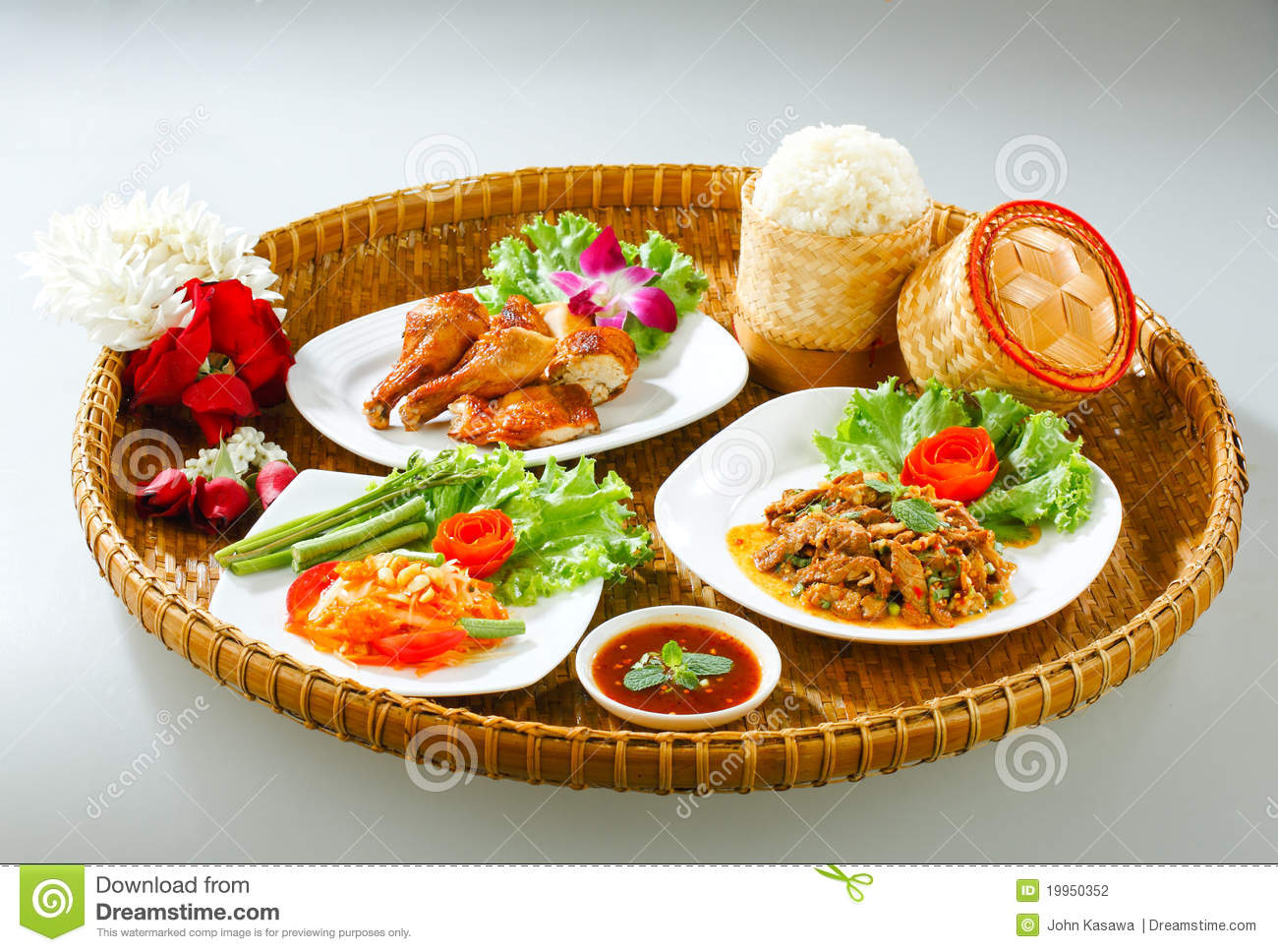 Thai northeast food style original stock photography - Cuisine style ...