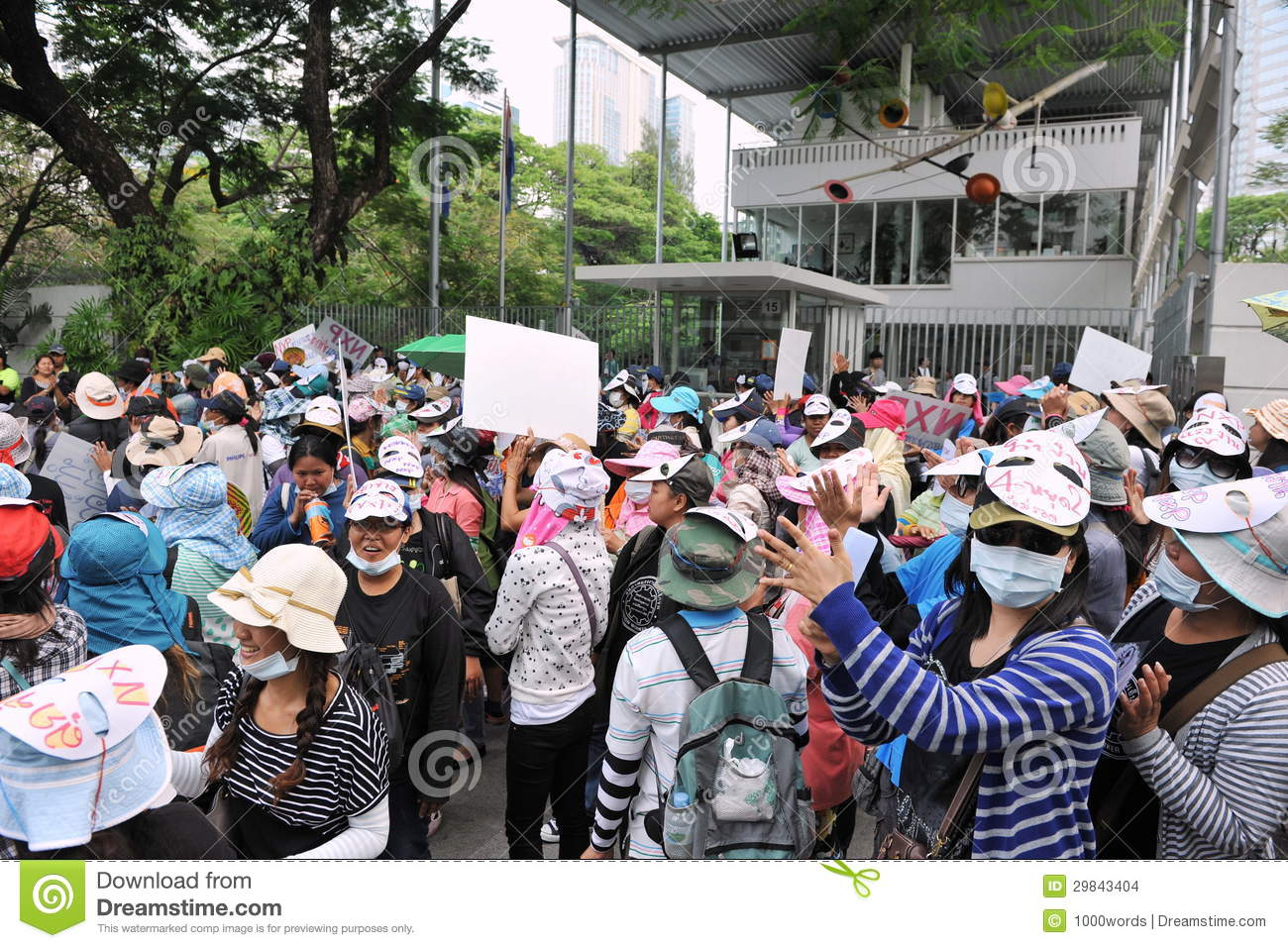 Workers Protest editorial stock image. Image of electronics - 29843404