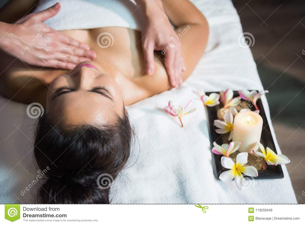 Thai Oil Massage To Asian Girl Stock Image - Image of