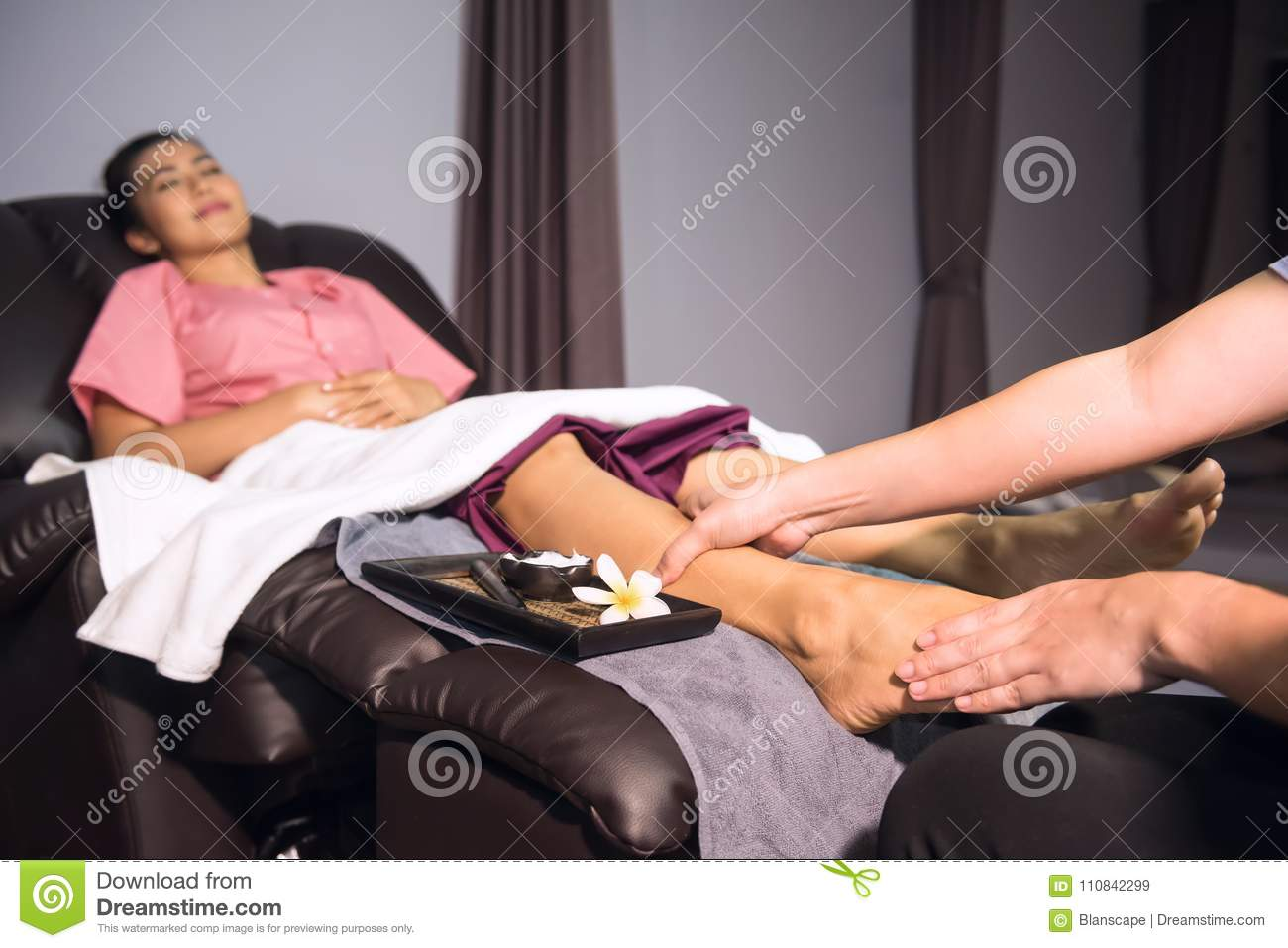 thai original massage foot spa stock image - image of feet