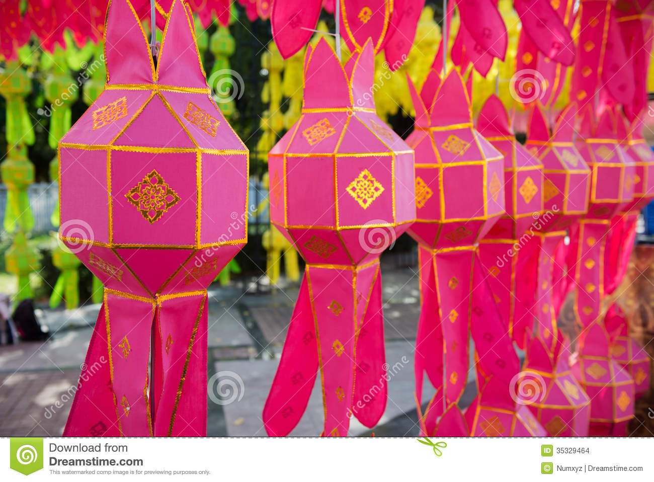 Thai Paper Lanterns Stock Photo Image Of Luck Japan 35329464