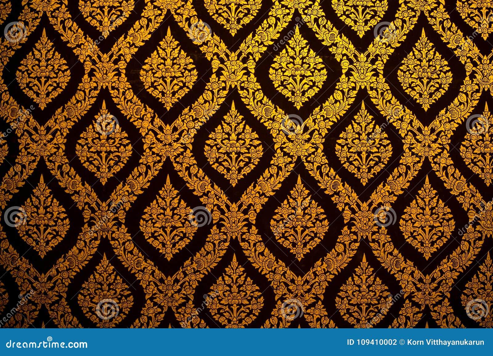 Thai pattern wallpaper culture art background