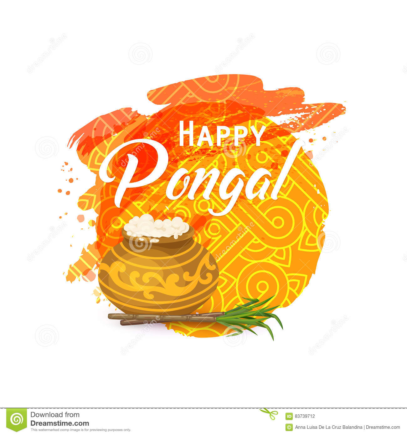 Thai Pongal Greeting Card Stock Photo Image Of Seed 83739712