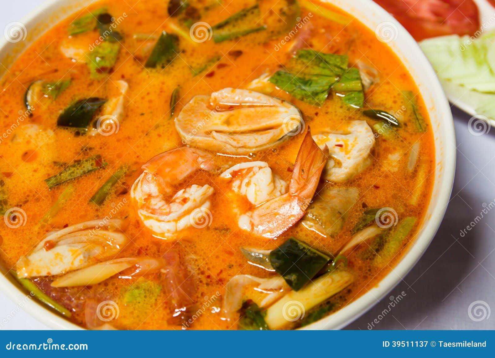 Thai popular food menu
