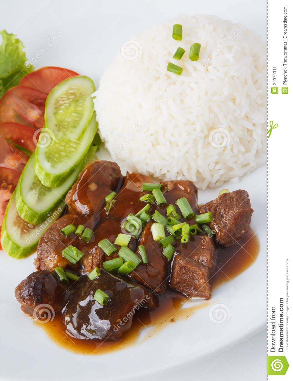 Thai Pork Stew With Steamed Rice Stock Image - Image: 29070011