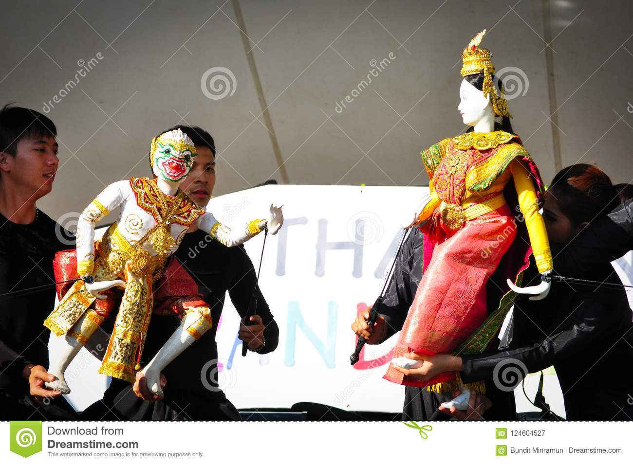 Thai Puppet Showing The Story From Hindu Epics Hanuman
