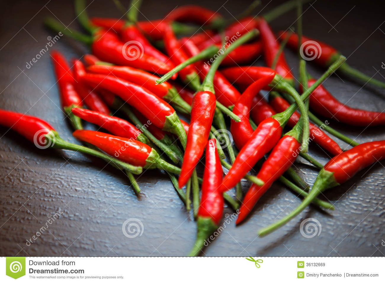 thai red chili peppers on table royalty free stock images