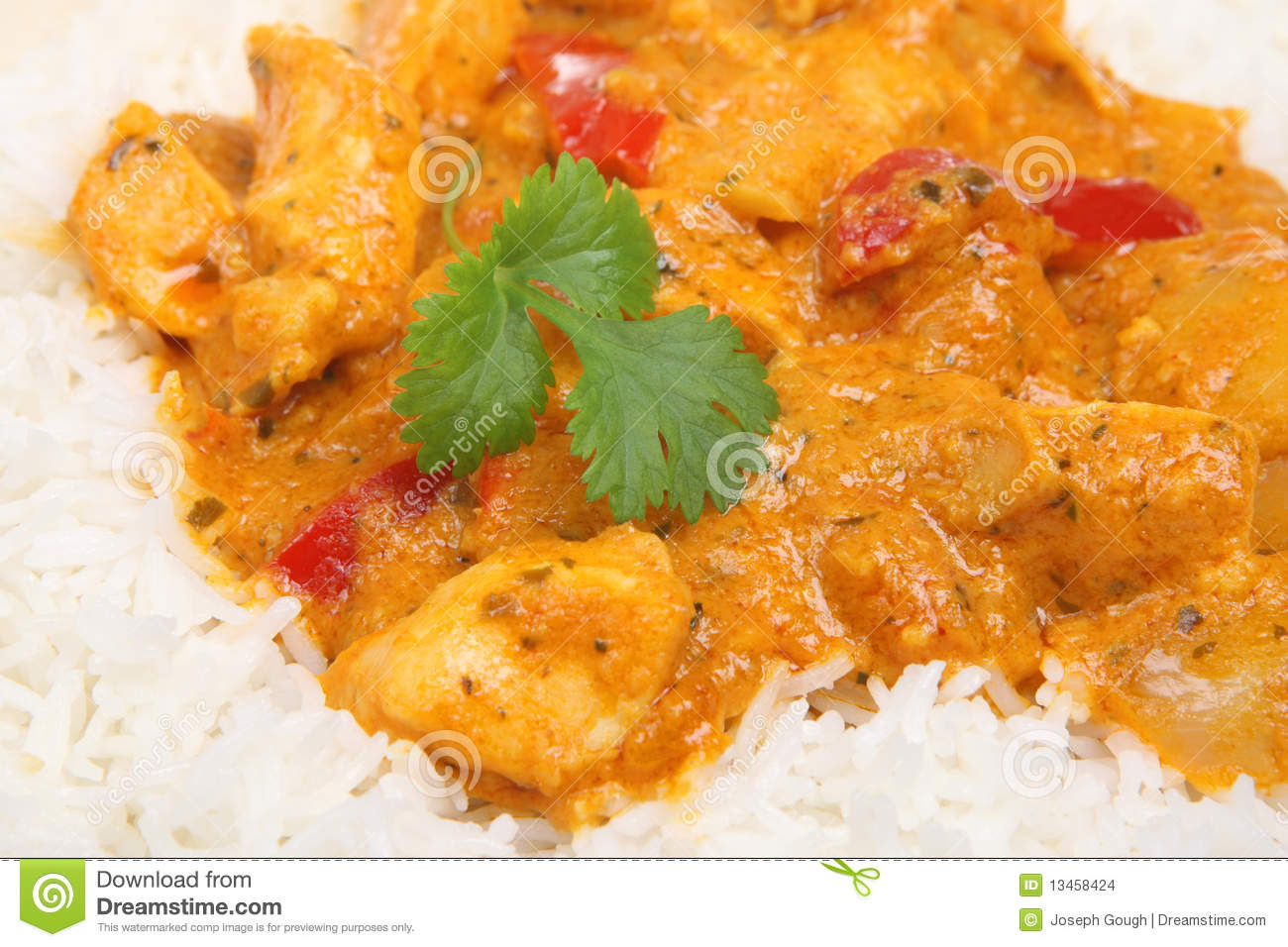 Download Thai Red Curry With Chicken Stock Photo - Image of coriander, thai: 13458424