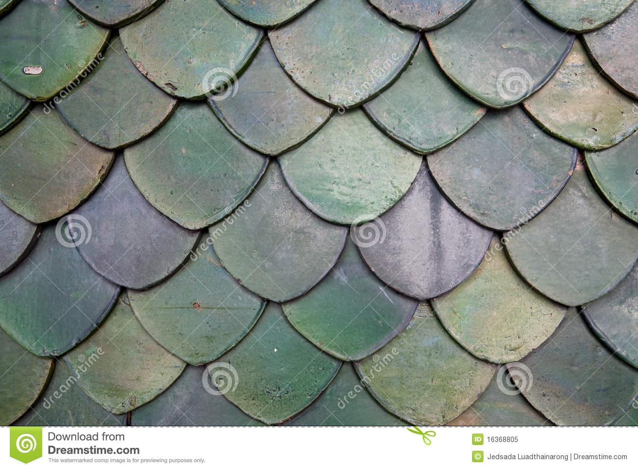 Thai roof royalty free stock photo image 16368805 for Fish scale shingles