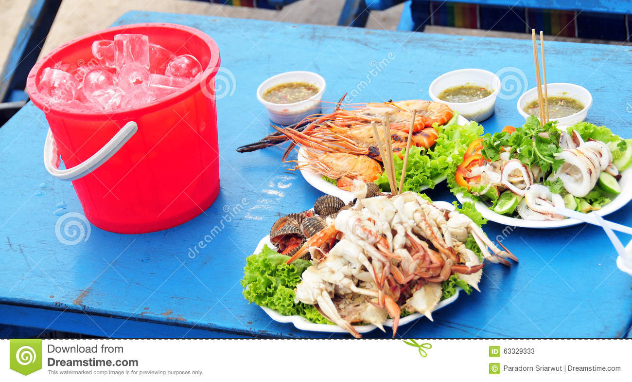 Thai seafood stock photo image 63329333 for Animals that are included in the cuisine of seafood