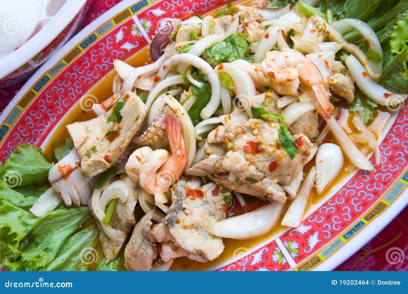 Thai Seafood Salad stock photo. Image ...