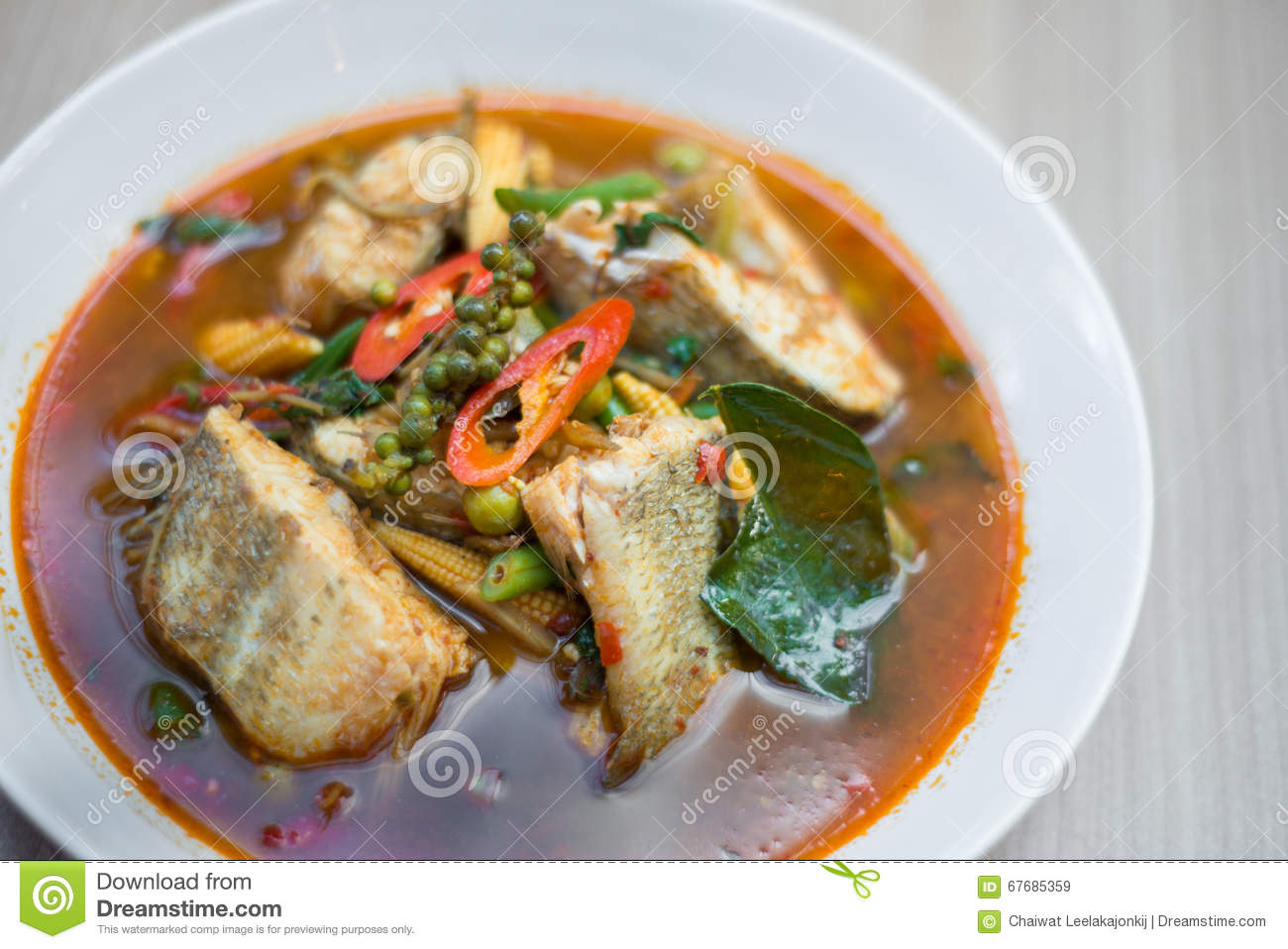 Thai spicy fish soup stock image image of spicy for Thai fish soup