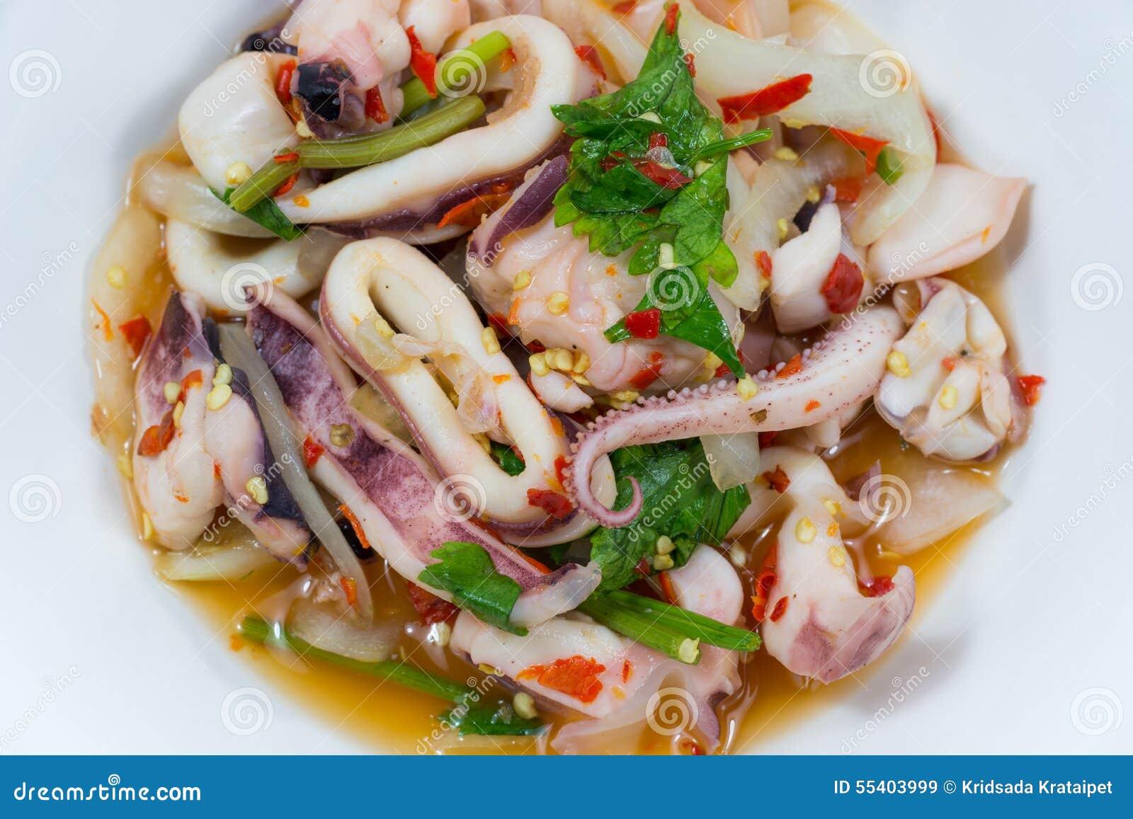 THAI SQUID SALAD stock image. Image of close, cuisine ...