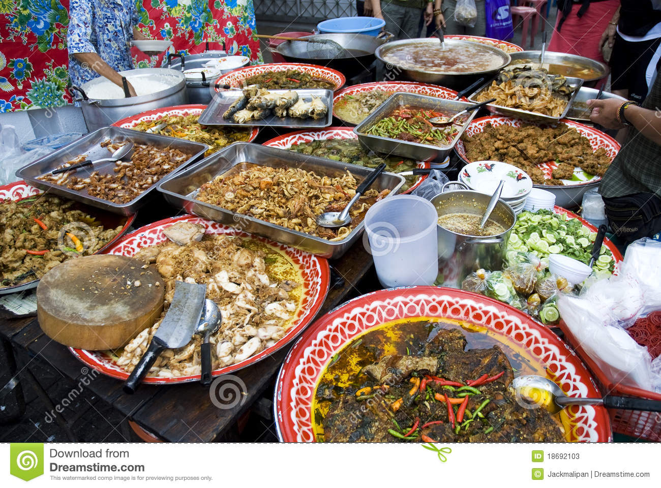 Thai street food in bangkok thailand stock image image for Asiatique cuisine