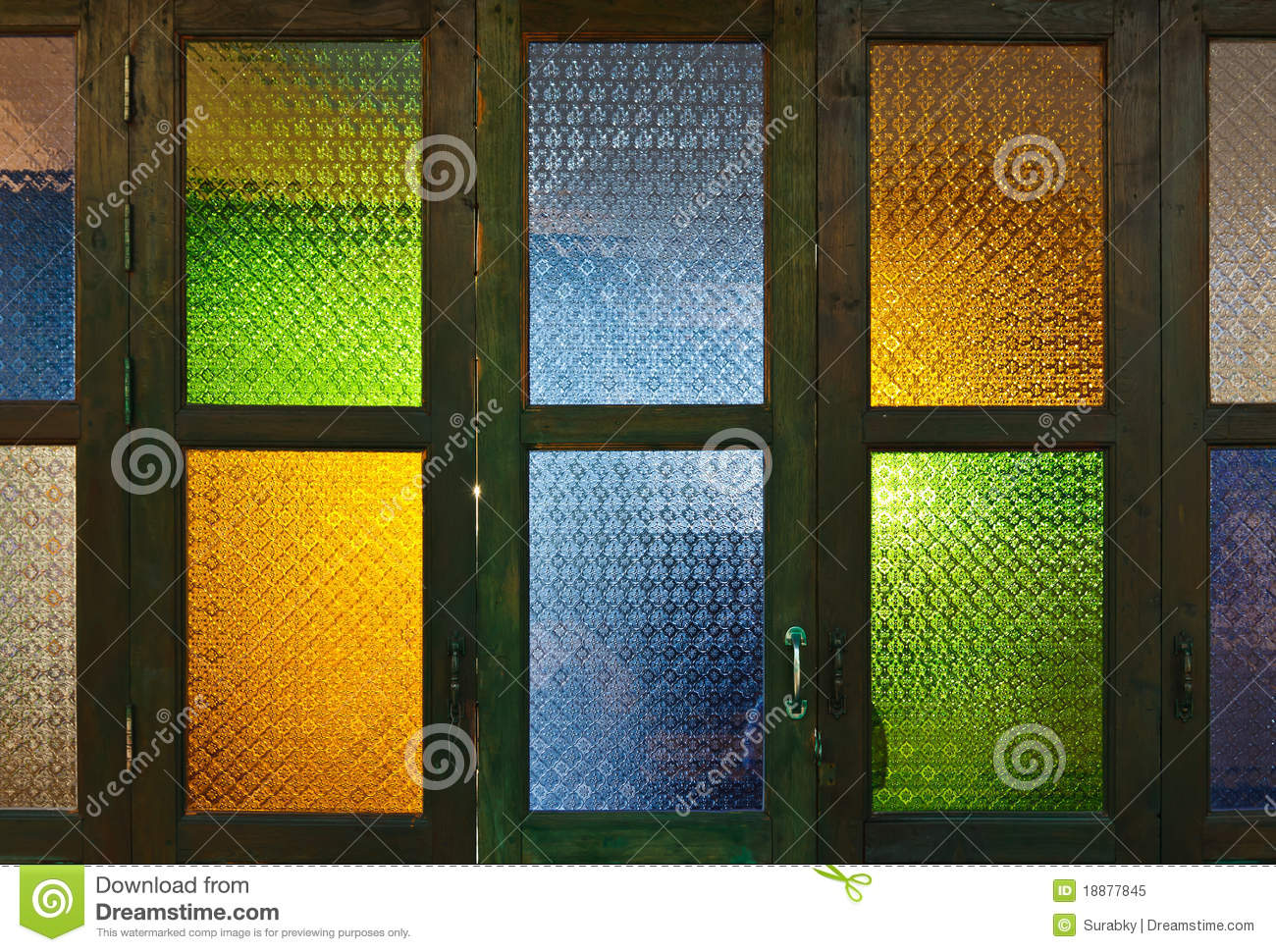 color colorful door ... & Thai Style Colorful Glass Door Royalty Free Stock Photo - Image ... Pezcame.Com