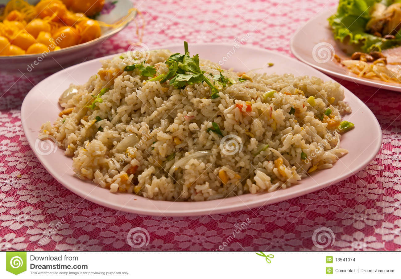 Thai Style Fried Rice Stock Images - Image: 18541074