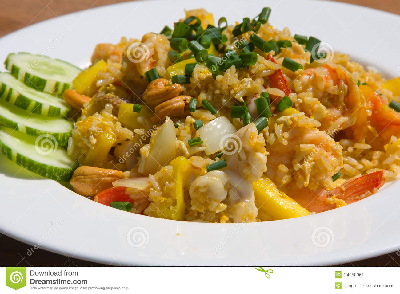Thai Style Fried Rice Stock Image - Image: 24058061